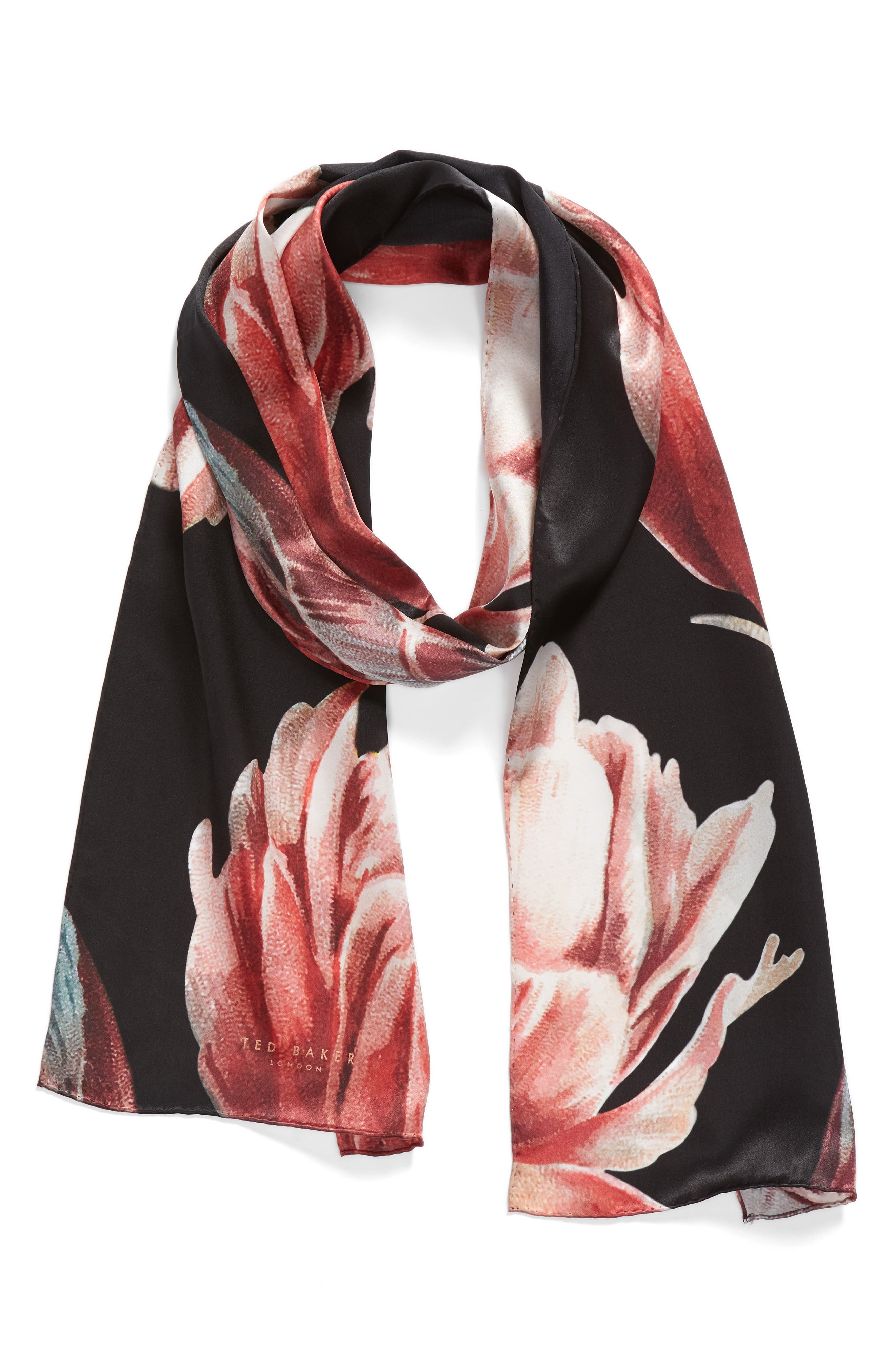 Tranquility Silk Scarf,                             Alternate thumbnail 2, color,                             001