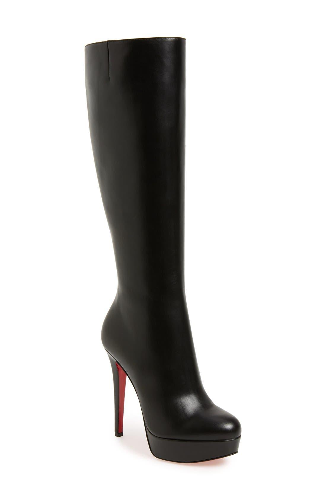 'Bianca Botta' Platform Boot,                         Main,                         color, BLACK LEATHER