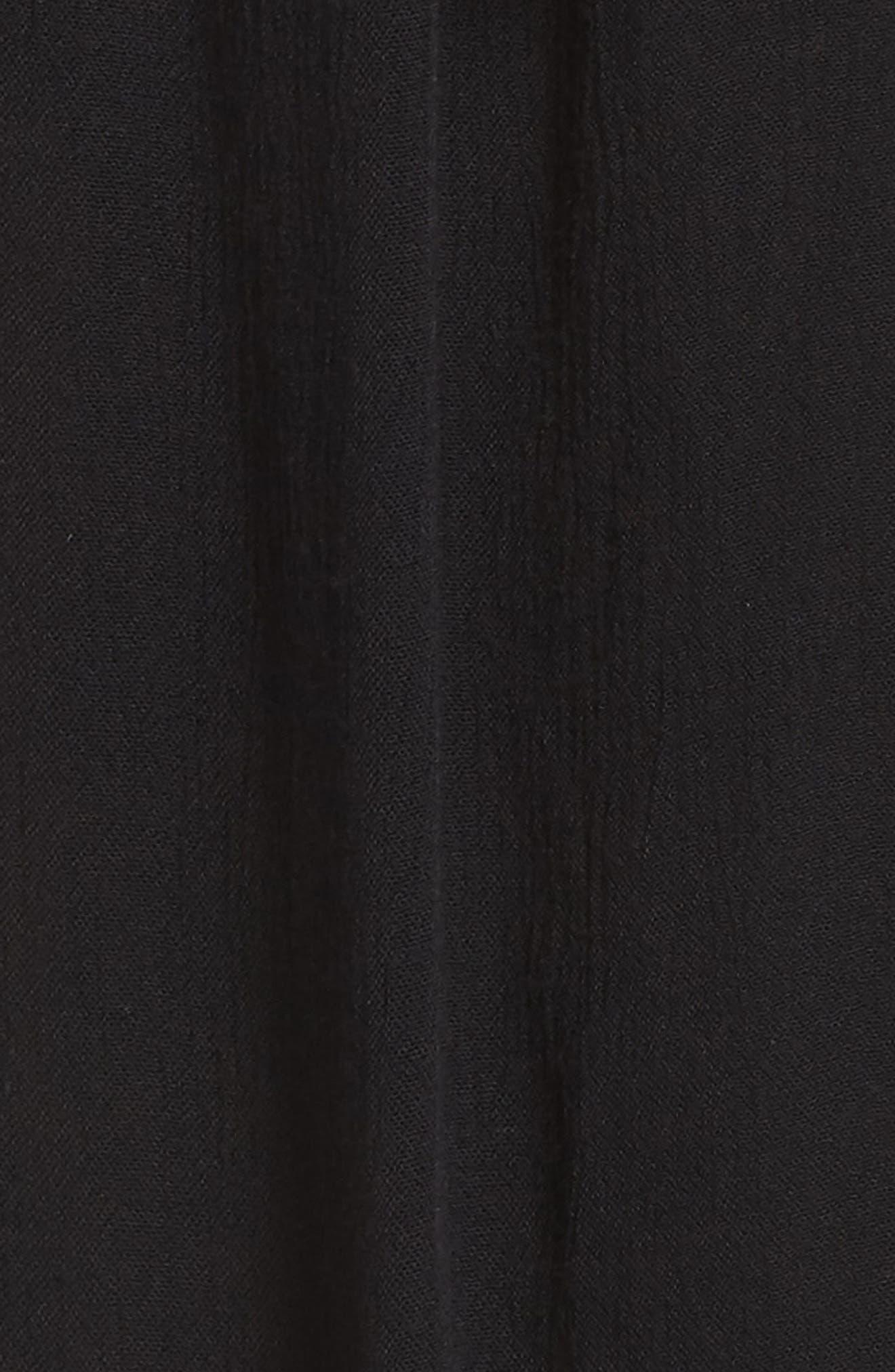 Gauze Cover-Up Pants,                             Alternate thumbnail 5, color,                             BLACK