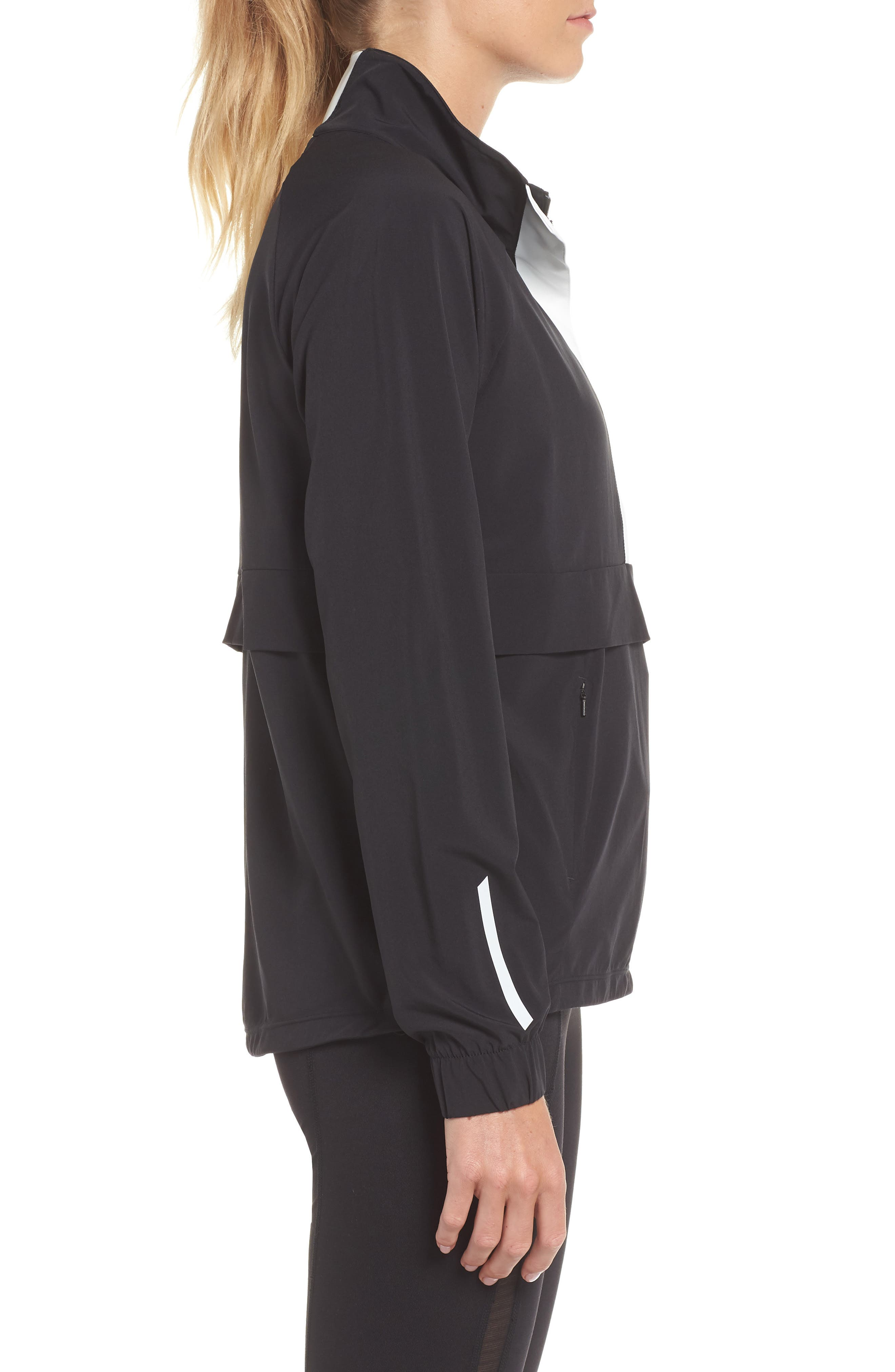 Freestyle Reflective Run Pullover,                             Alternate thumbnail 3, color,                             BLACK