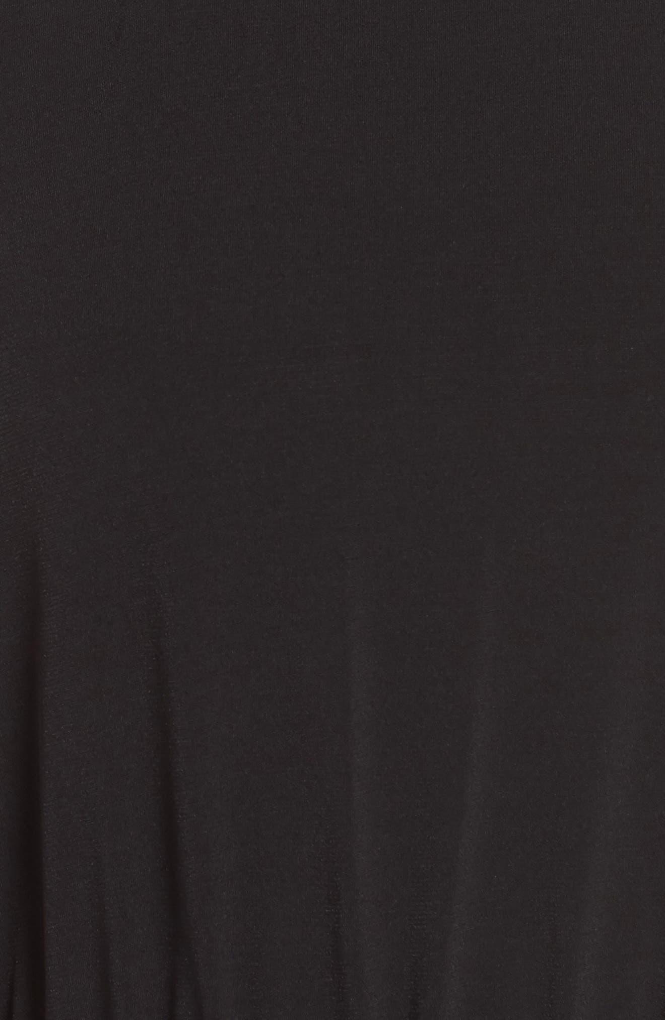 MICHAEL MICHAEL KORS,                             Halter Midi Dress,                             Alternate thumbnail 6, color,                             BLACK
