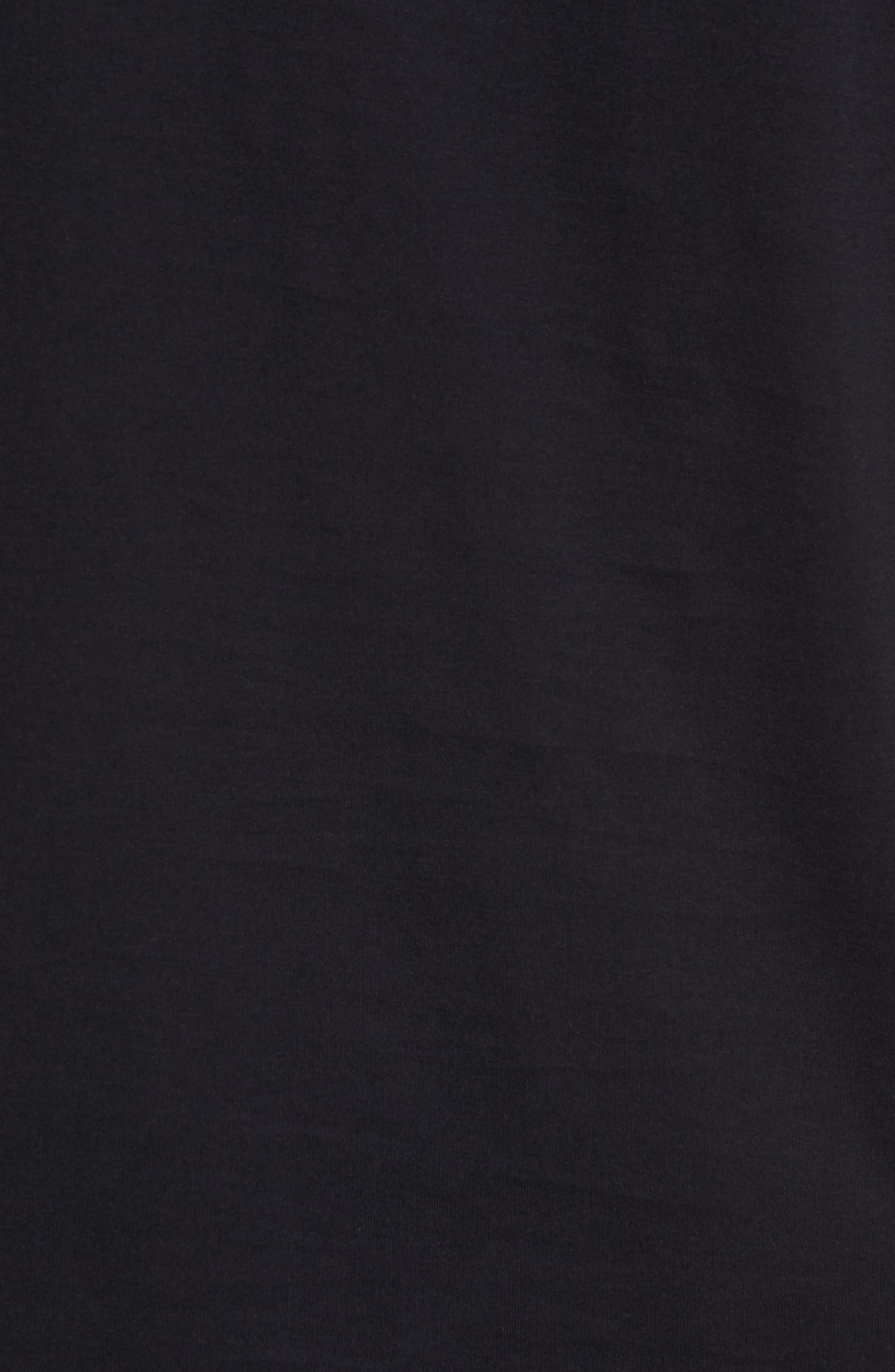 Night & Day Crewneck T-Shirt,                             Alternate thumbnail 5, color,                             BLACK