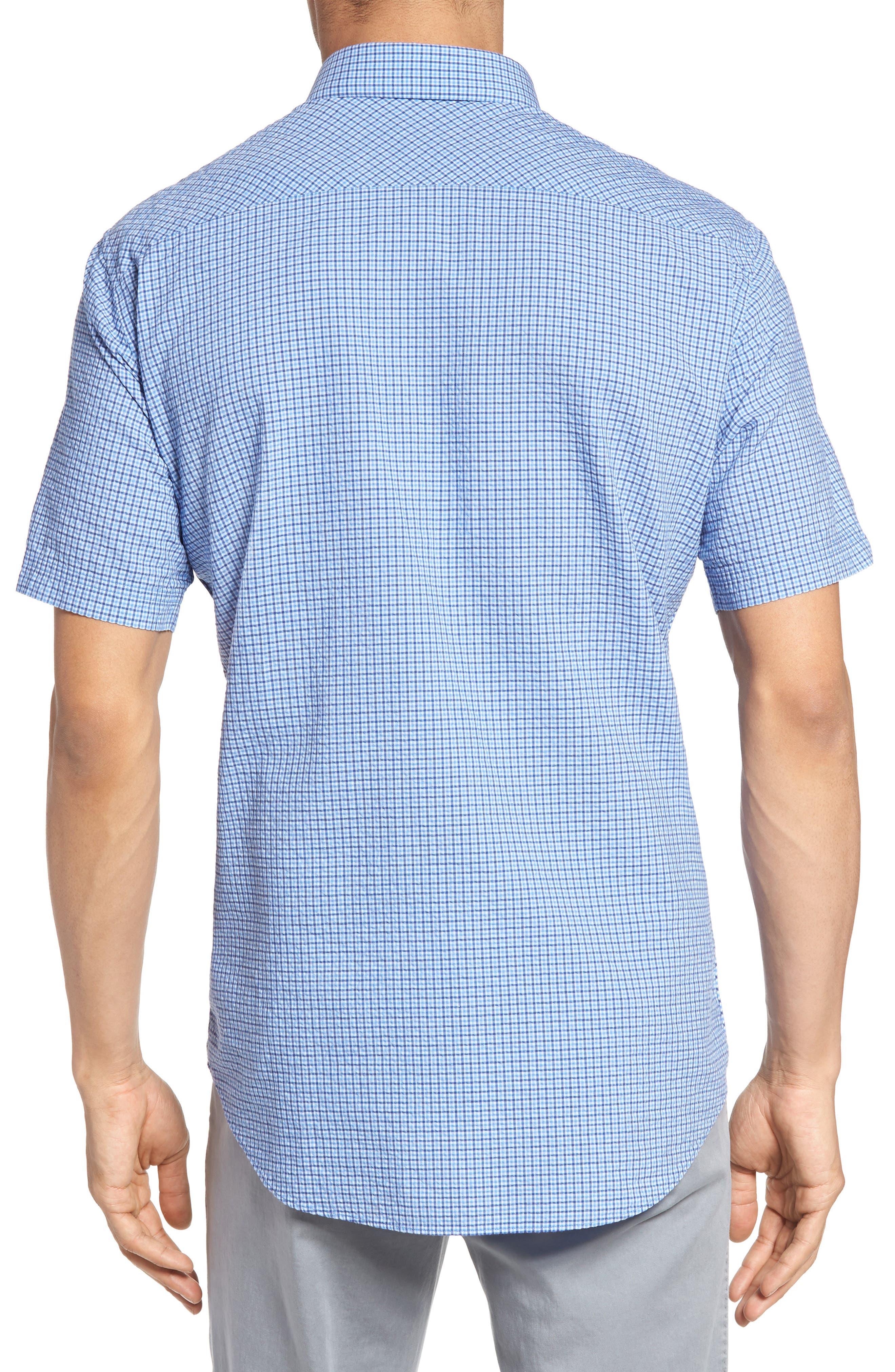 Billy Trim Fit Plaid Sport Shirt,                             Alternate thumbnail 2, color,                             422