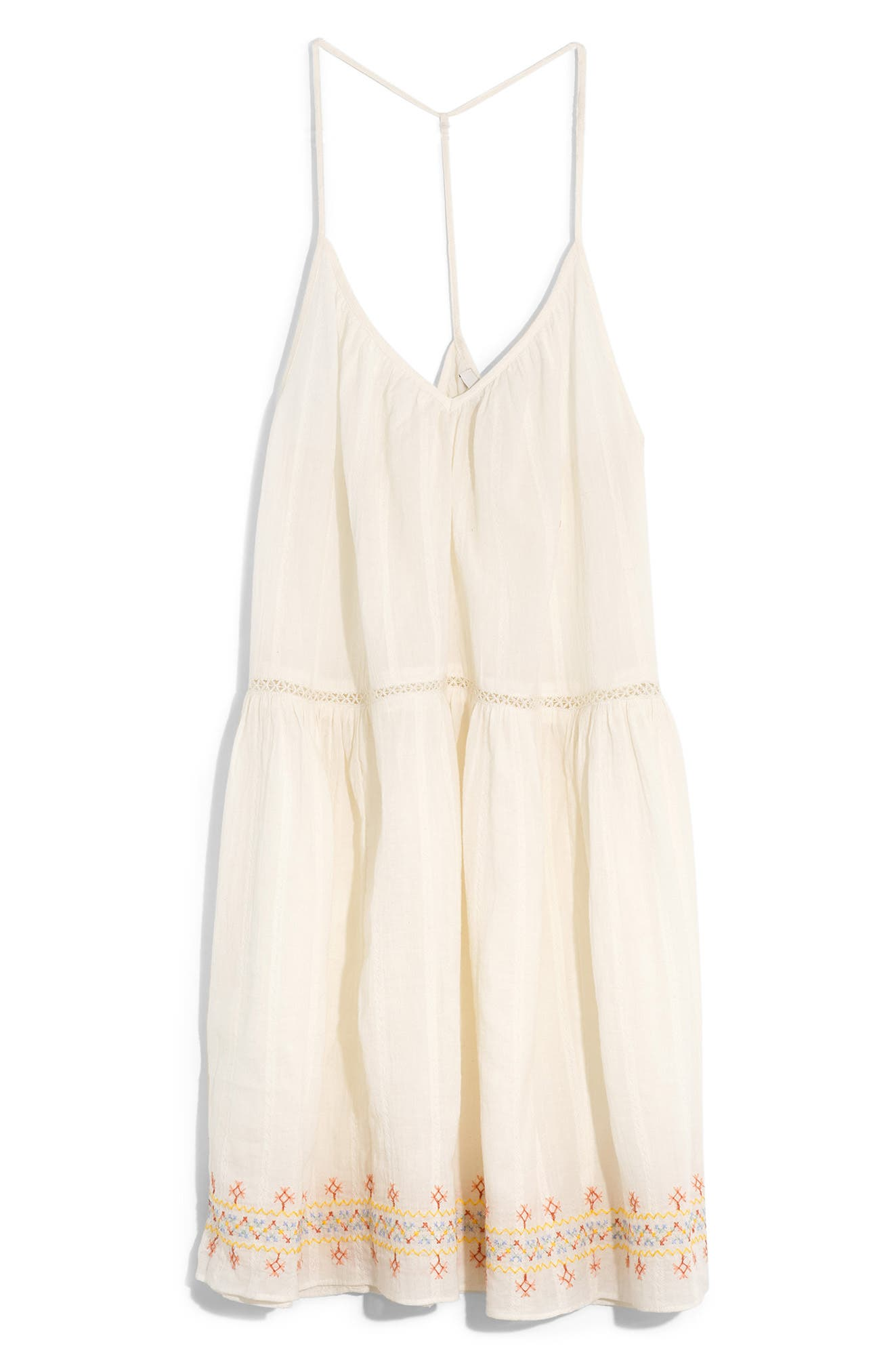 Embroidered Racerback Cover Up Dress by Madewell