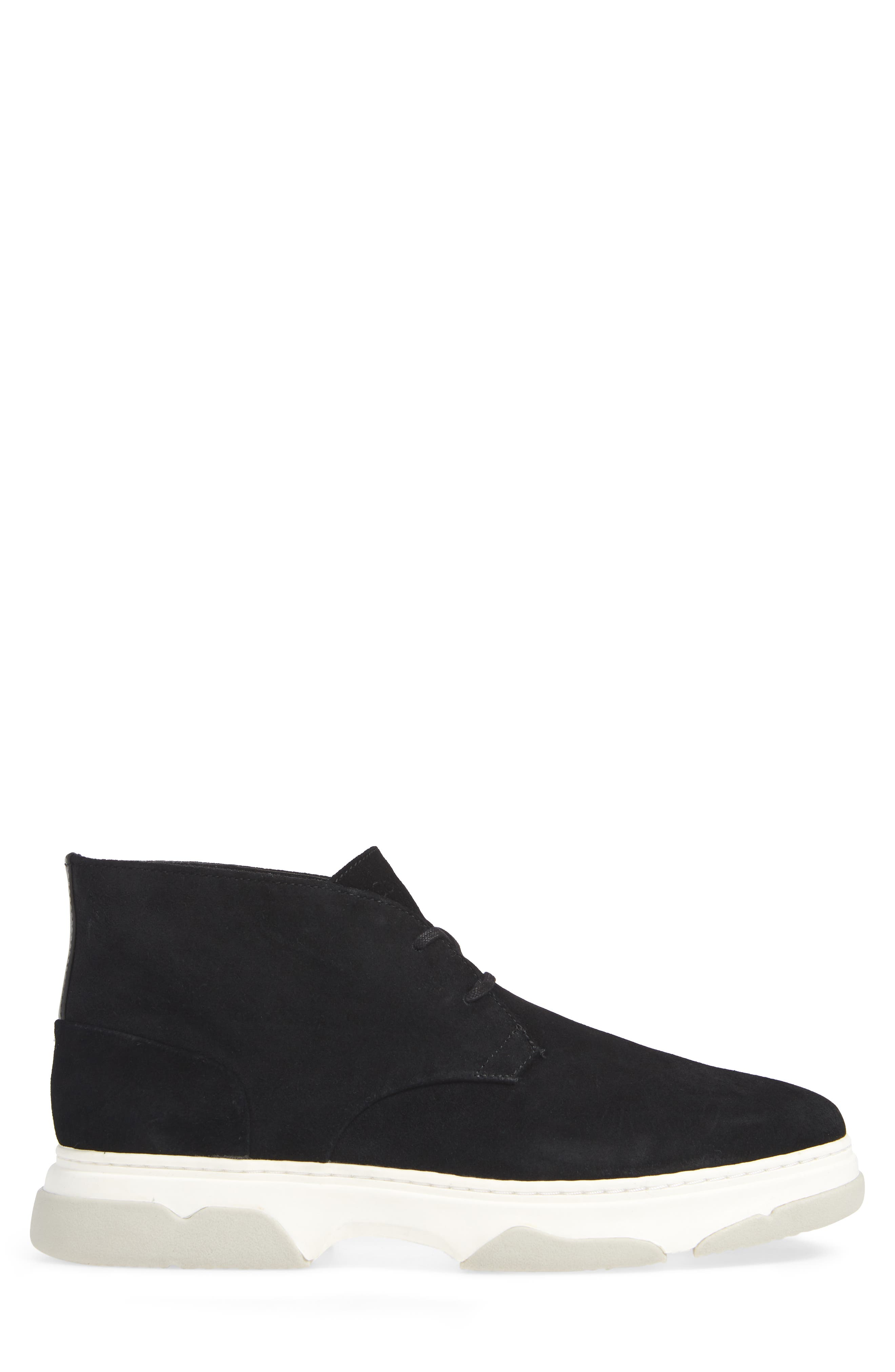 Perry Chukka Boot,                             Alternate thumbnail 3, color,                             BLACK CALF SUEDE