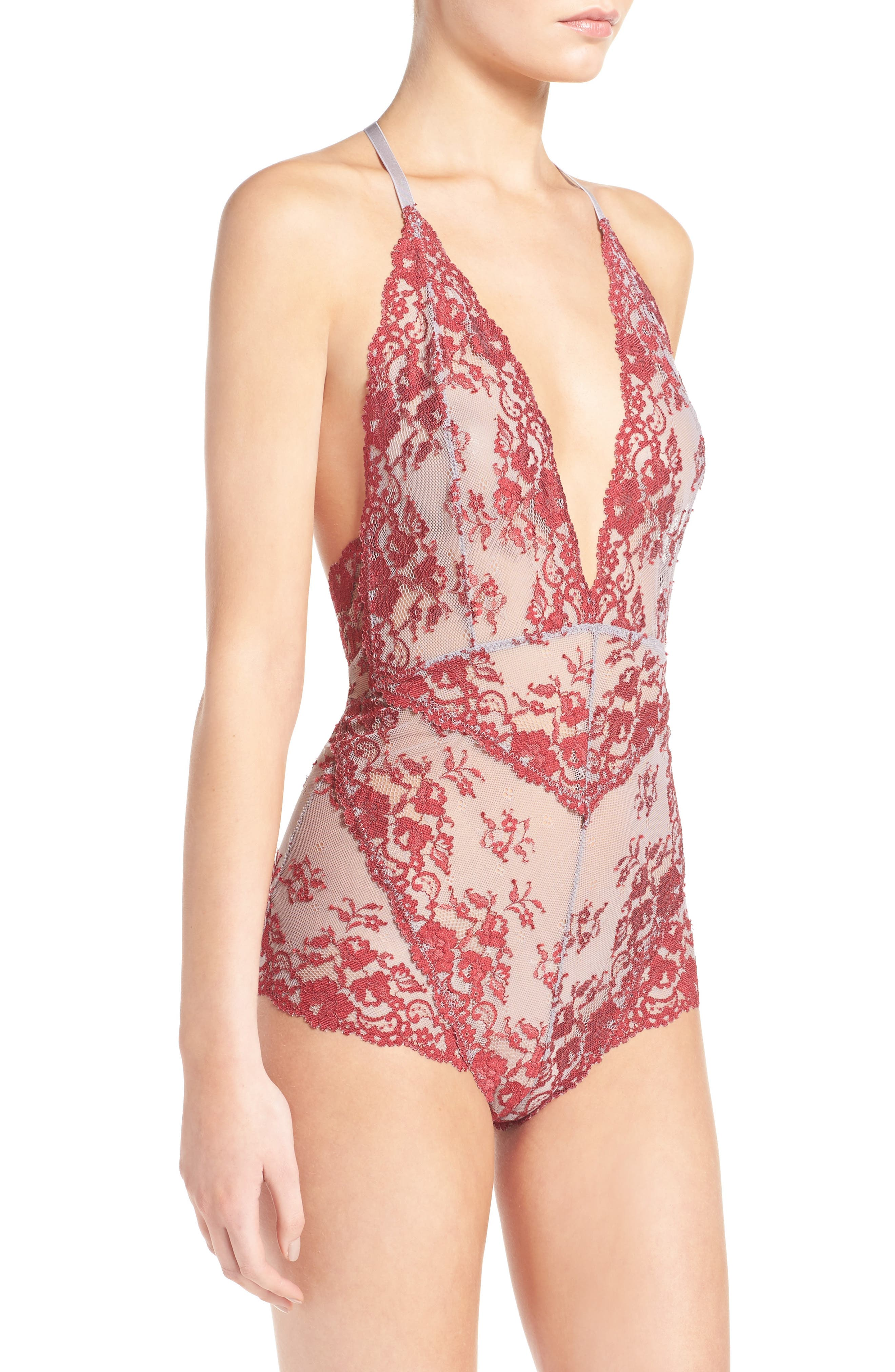 Intimately FP Too Cute to Handle Bodysuit,                             Alternate thumbnail 3, color,                             SKY