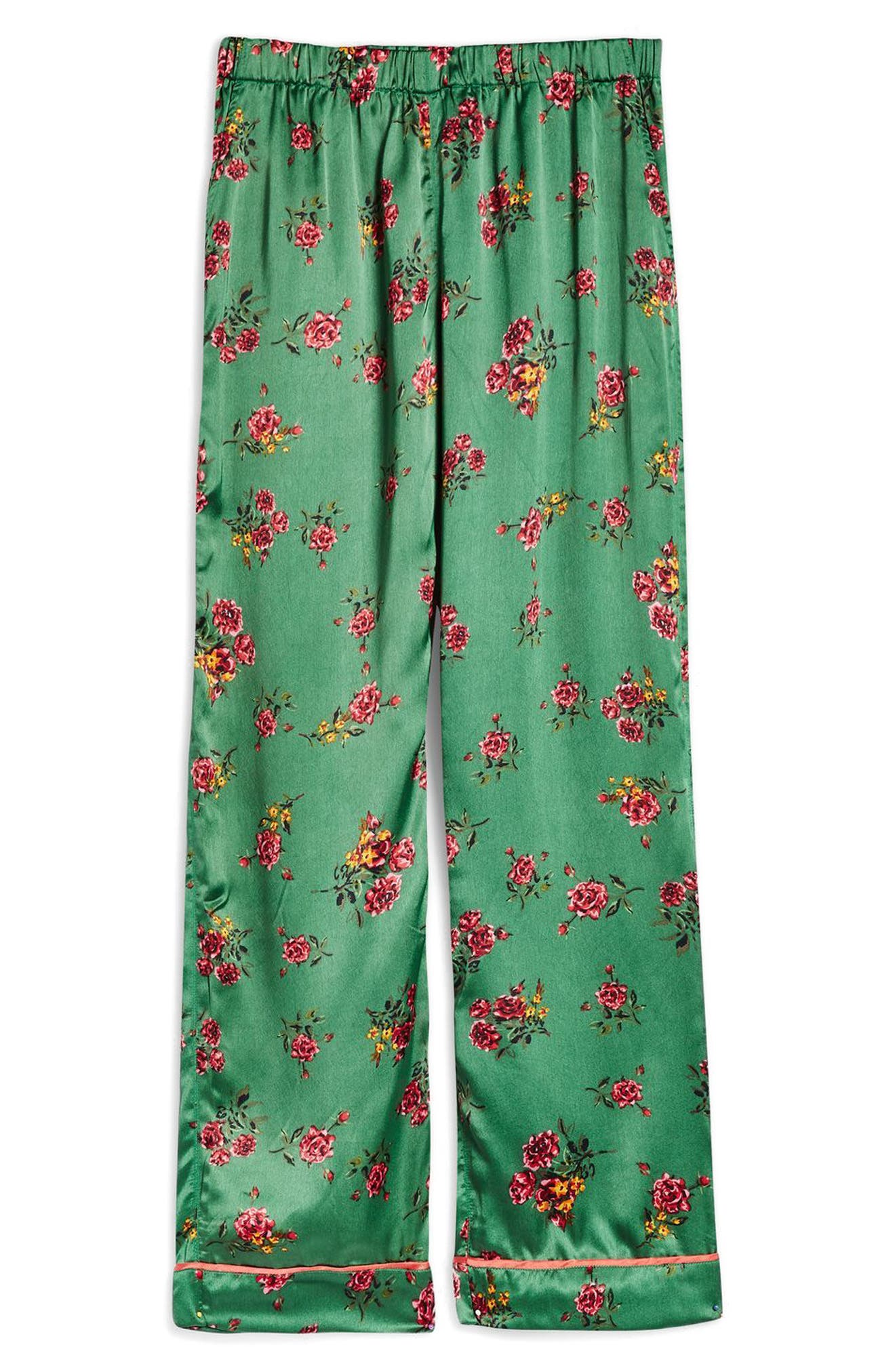 Floral Print Pajama Pants,                             Alternate thumbnail 2, color,                             320