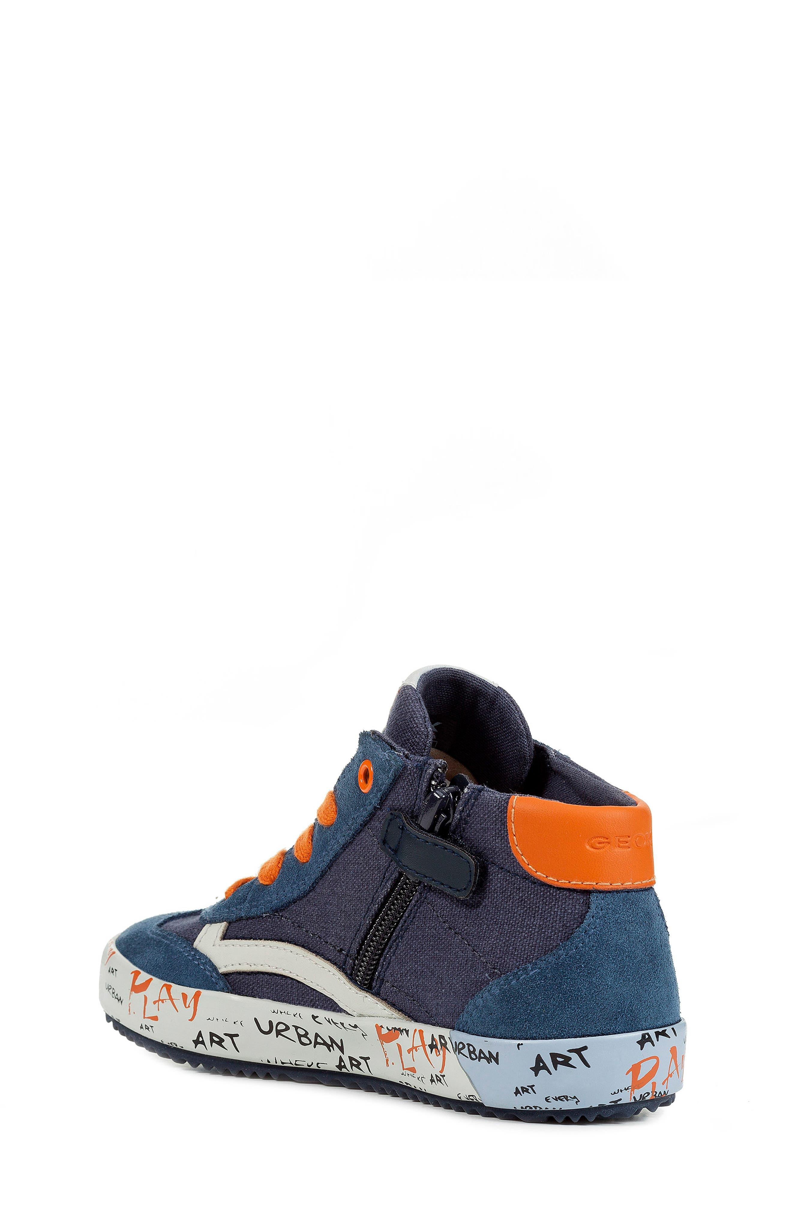 Alonisso 34 High Top Sneaker,                             Alternate thumbnail 2, color,                             NAVY/ DARK ORANGE