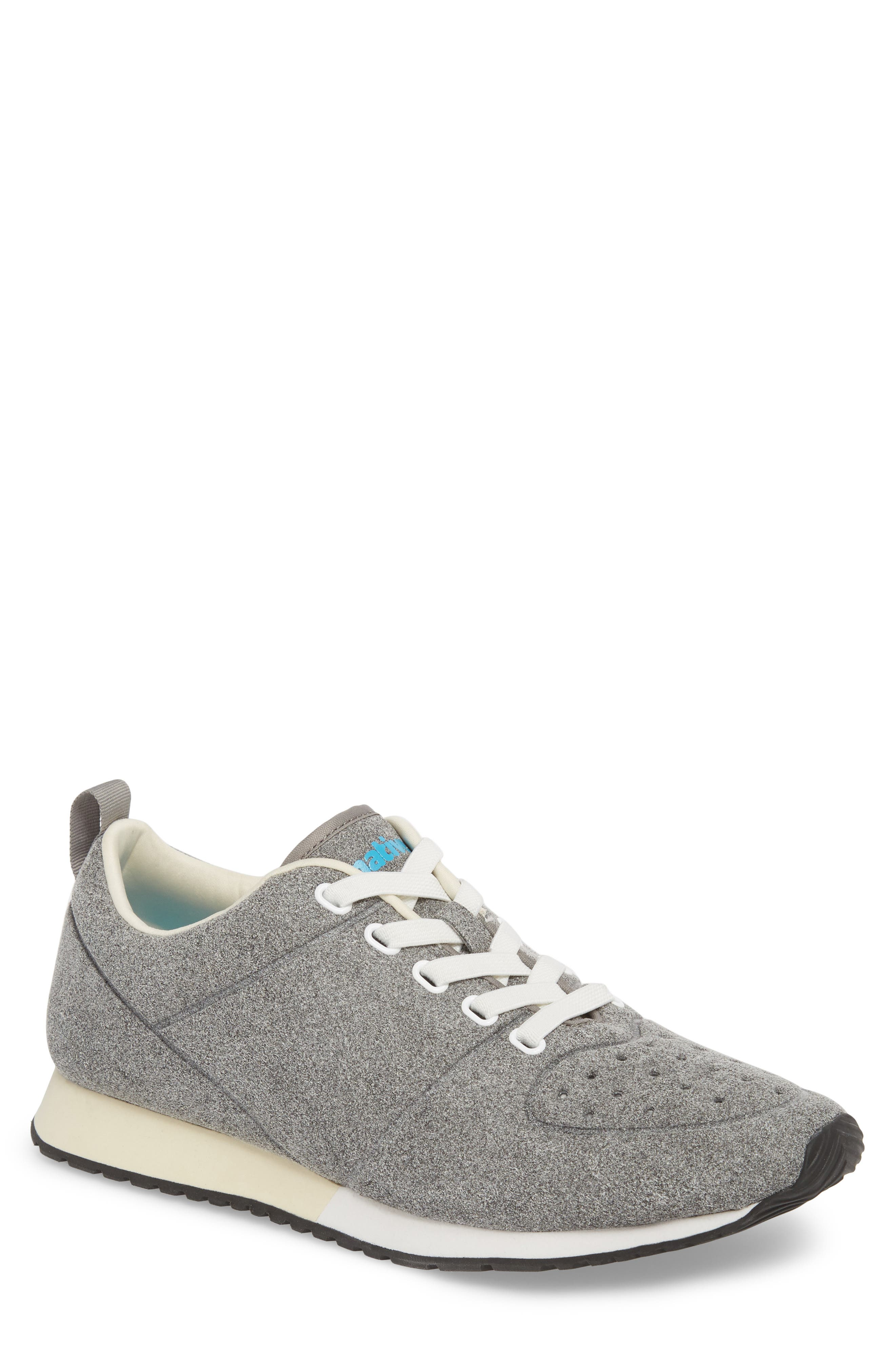 Cornell Perforated Sneaker,                         Main,                         color, PIGEON GREY/ SHELL WHITE