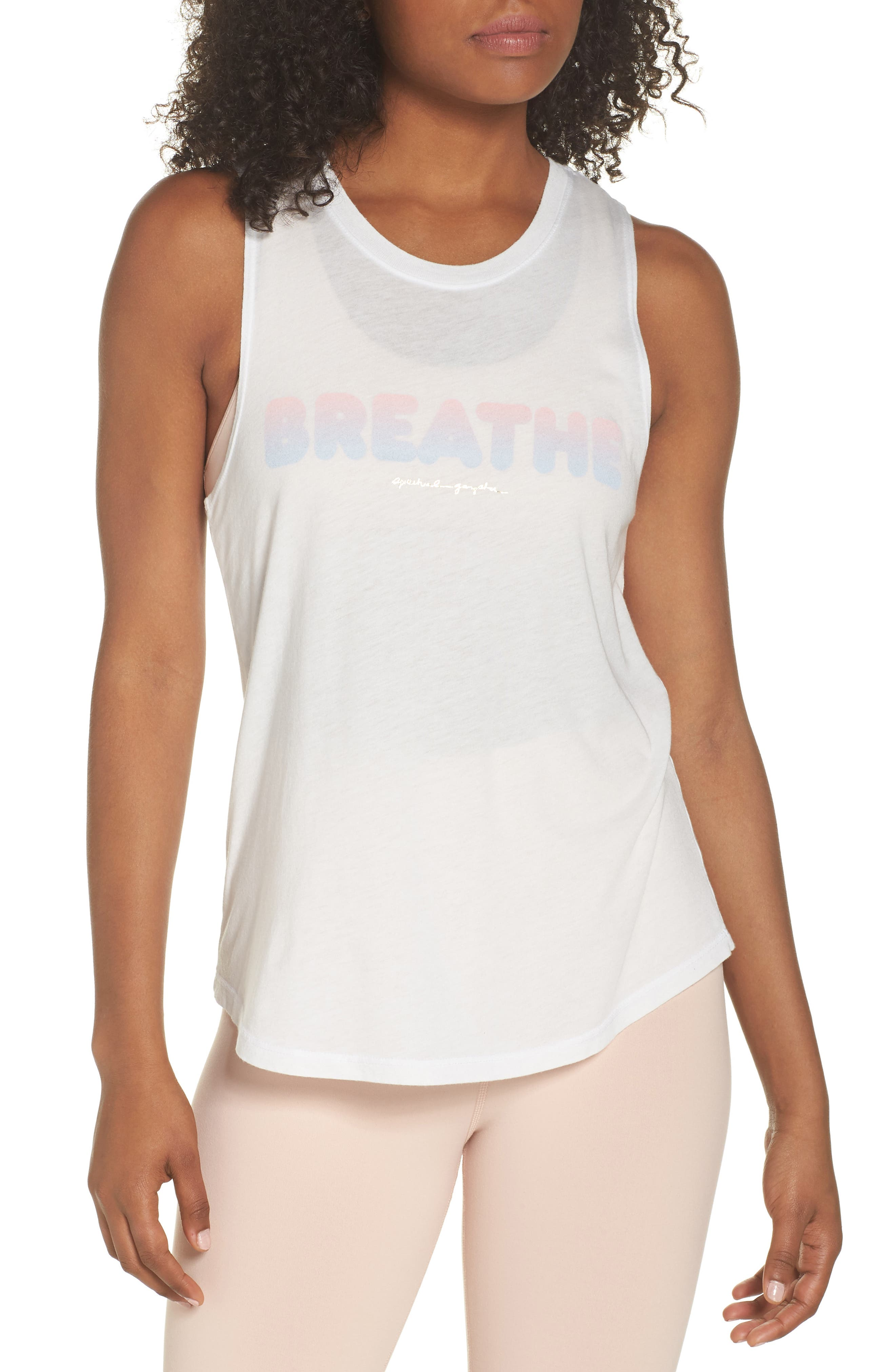 Breathe Muscle Tee,                         Main,                         color, STARDUST