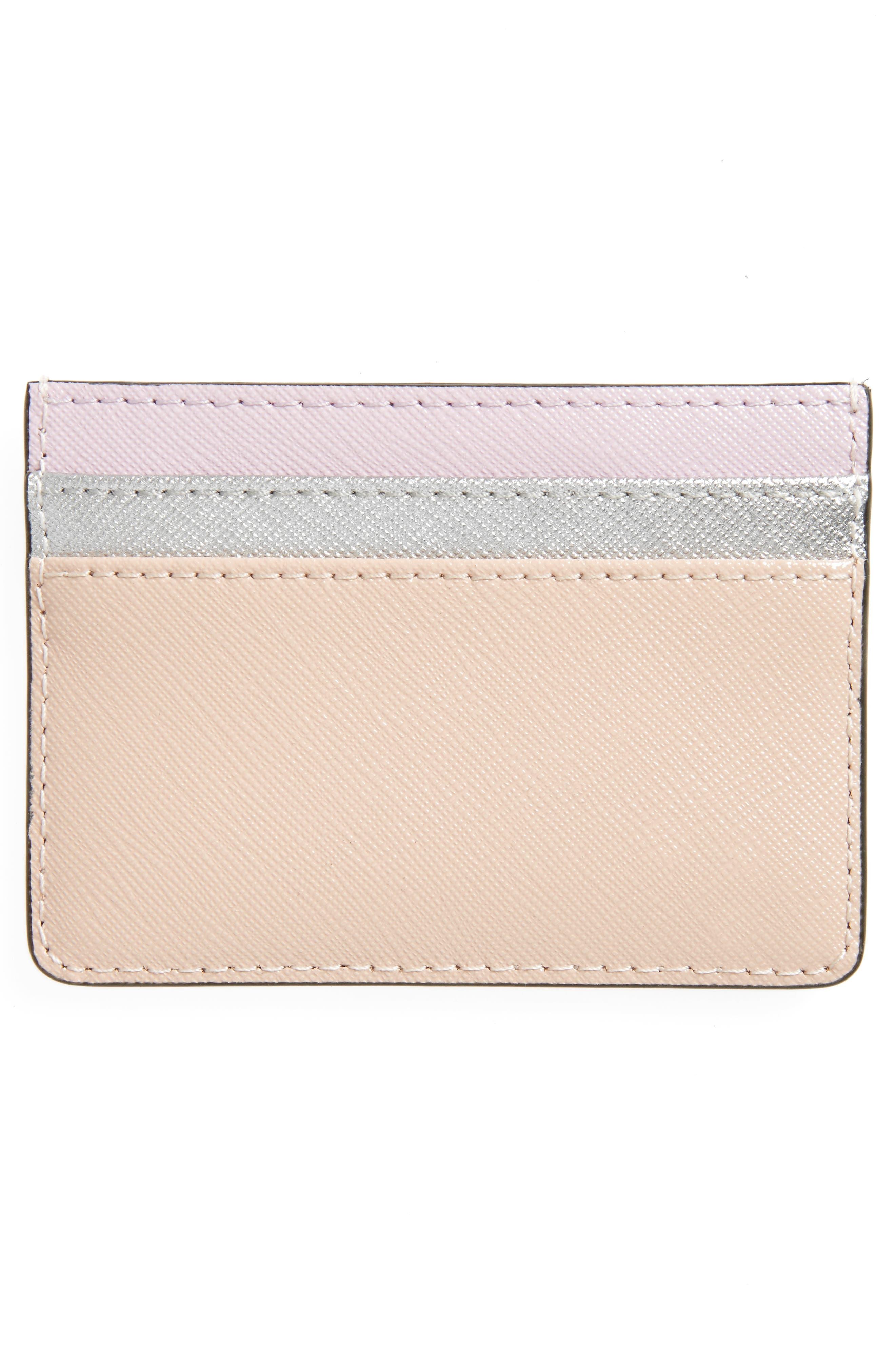Color Block Saffiano Leather Card Case,                             Alternate thumbnail 10, color,