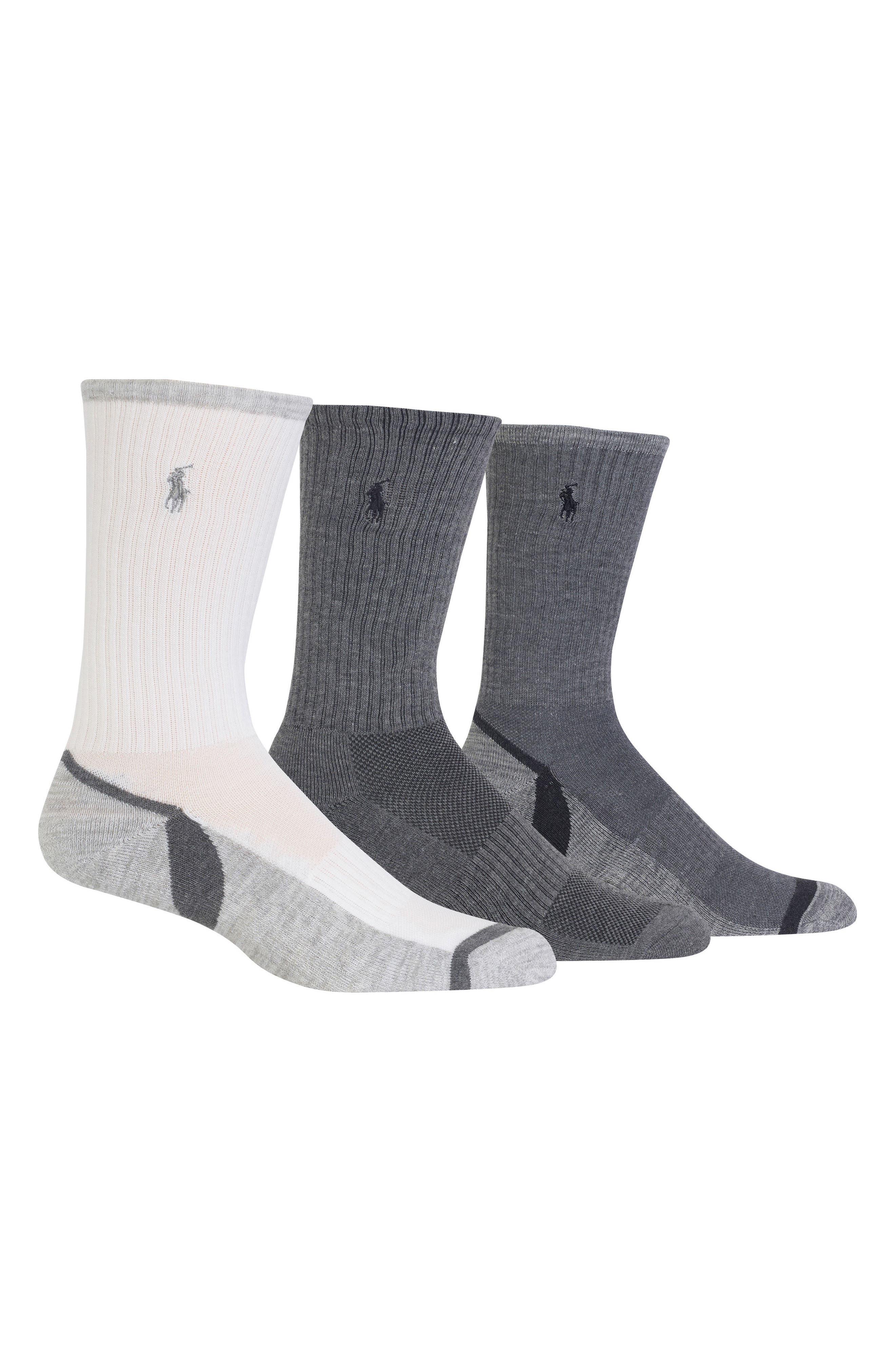 3-Pack Athletic Socks,                         Main,                         color, 020