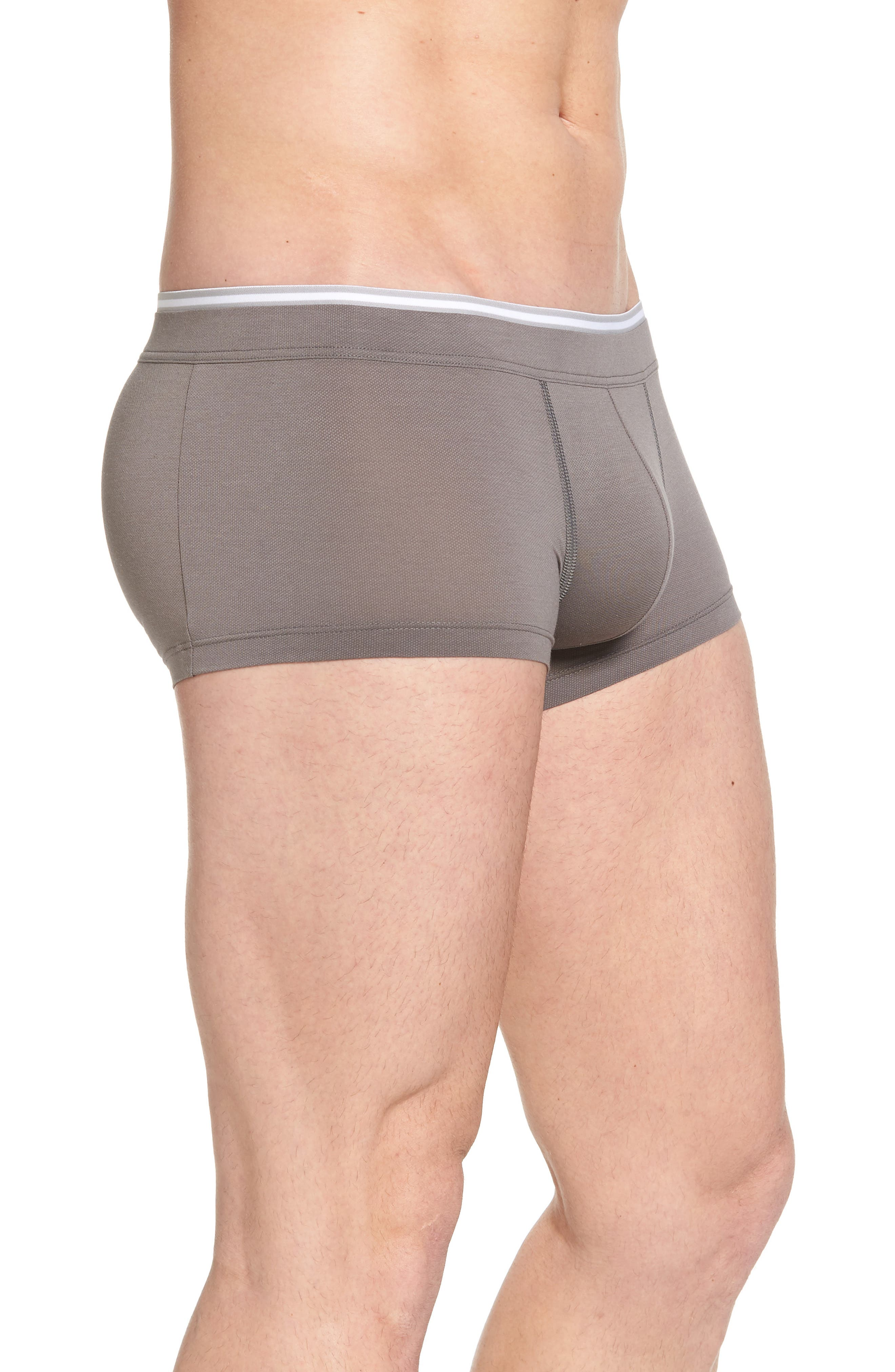 Liam Cotton Blend Trunks,                             Alternate thumbnail 3, color,                             MOONROCK
