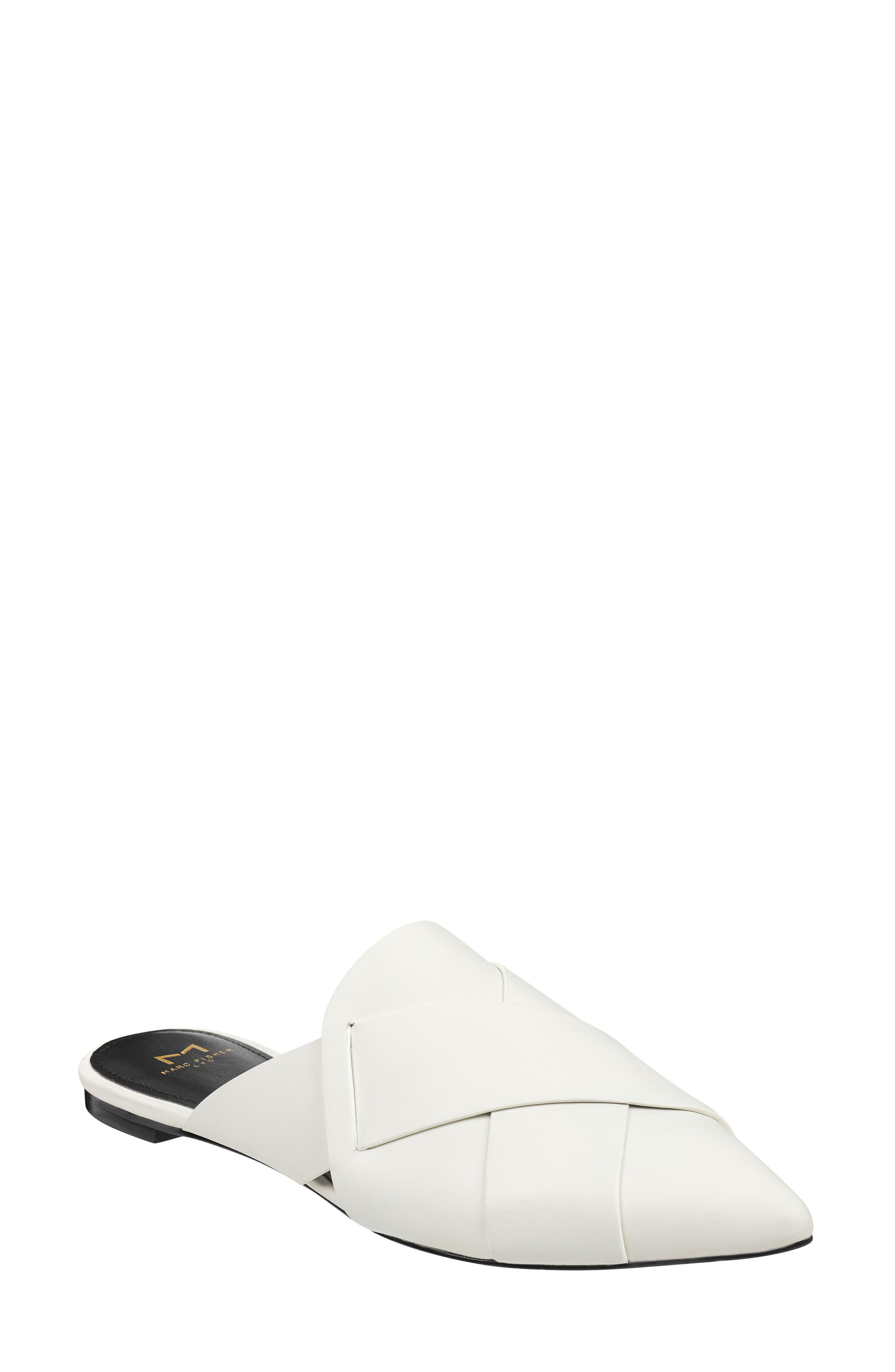 Sono Pointy Toe Mule,                             Main thumbnail 1, color,                             CHIC CREAM LEATHER