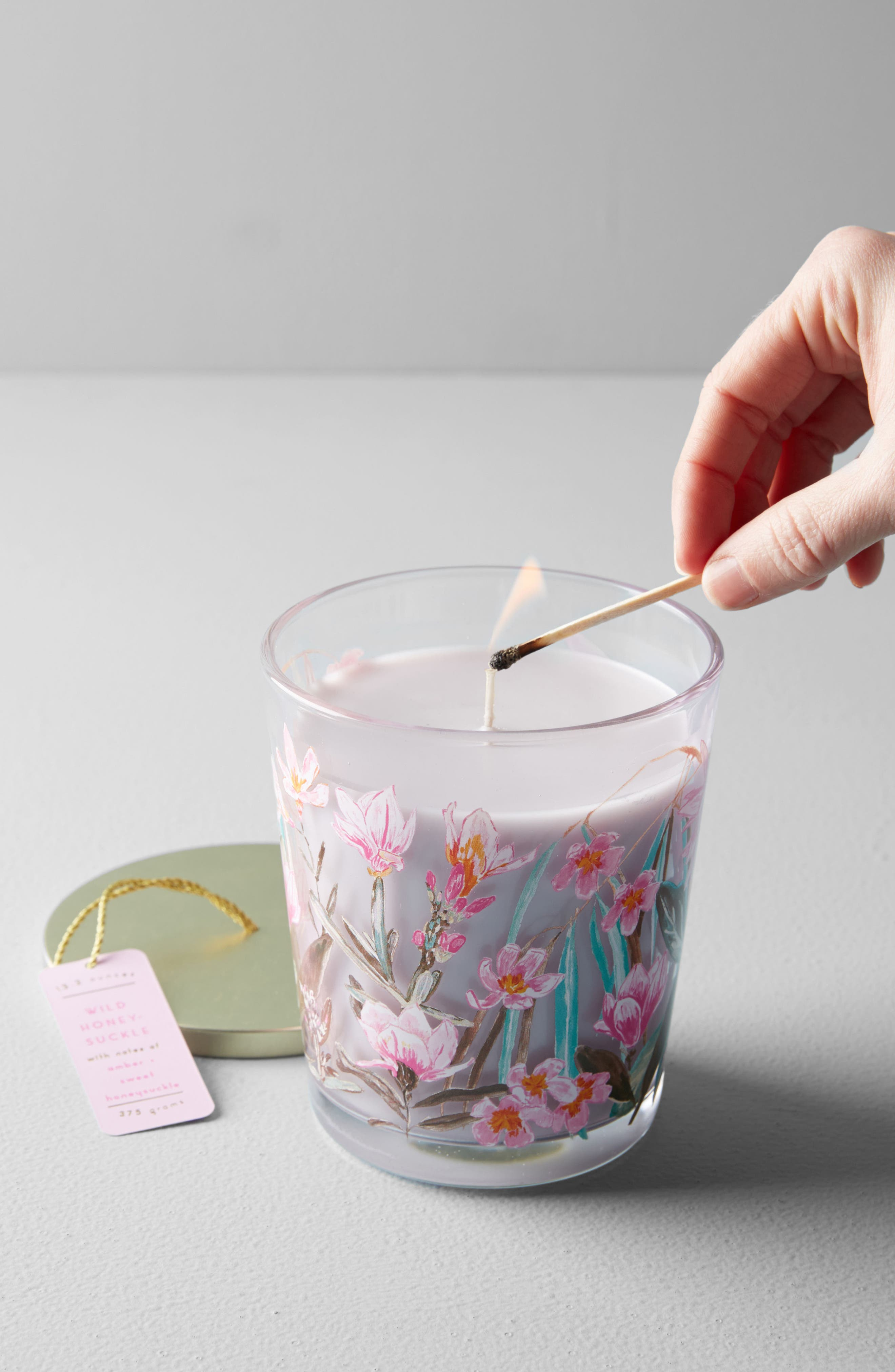 Spring's Eden Candle Jar,                             Main thumbnail 1, color,