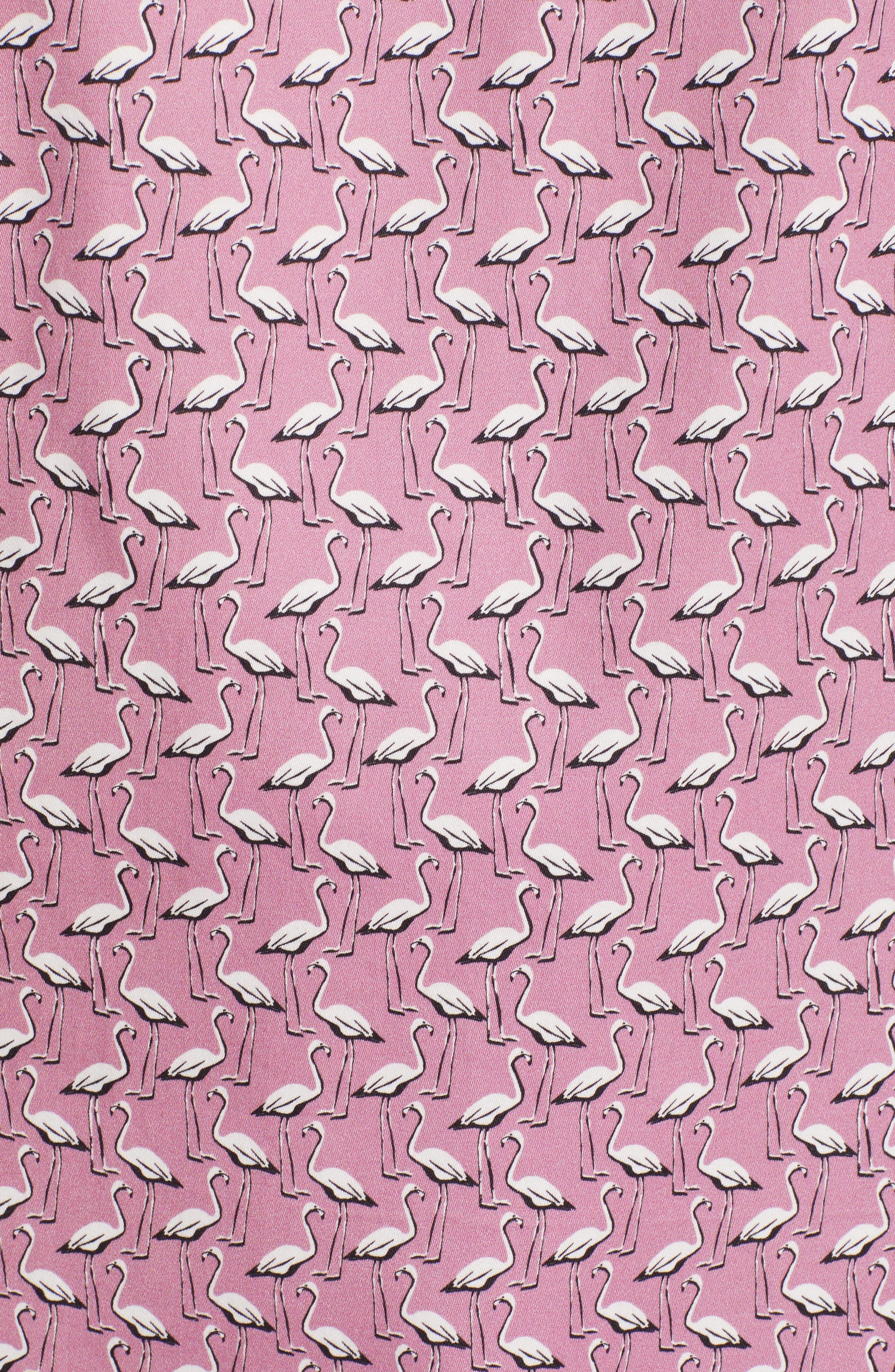Norflam Flamingo Print Sport Shirt,                             Alternate thumbnail 5, color,                             650