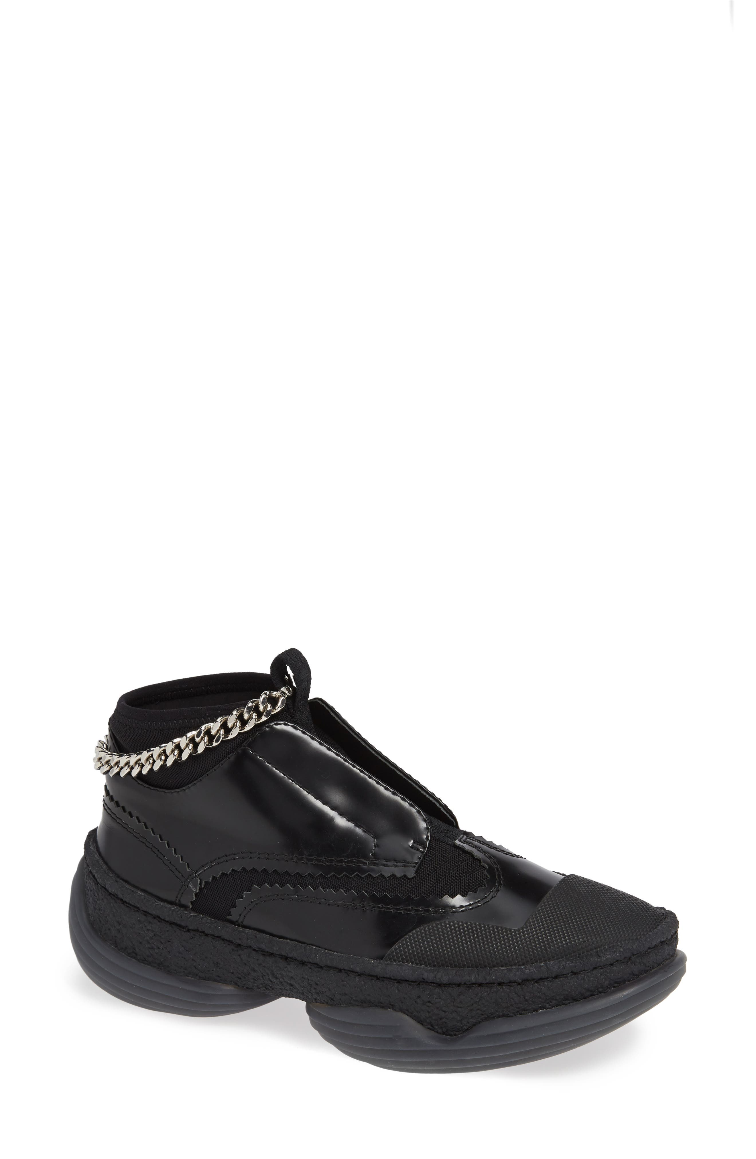Alexander Wang Chain Platform Sneaker, Black