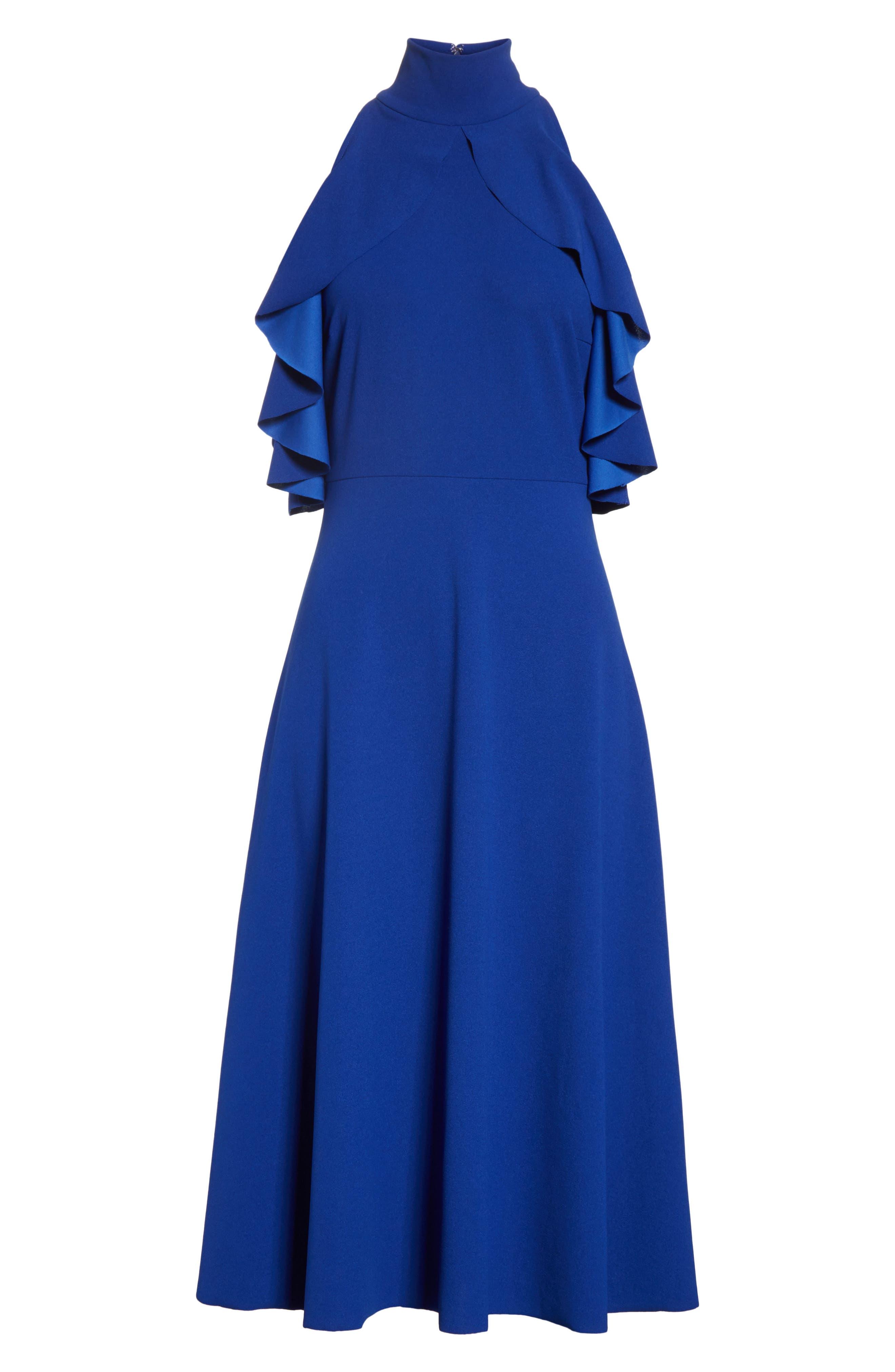 Midi Dress,                             Alternate thumbnail 6, color,                             415