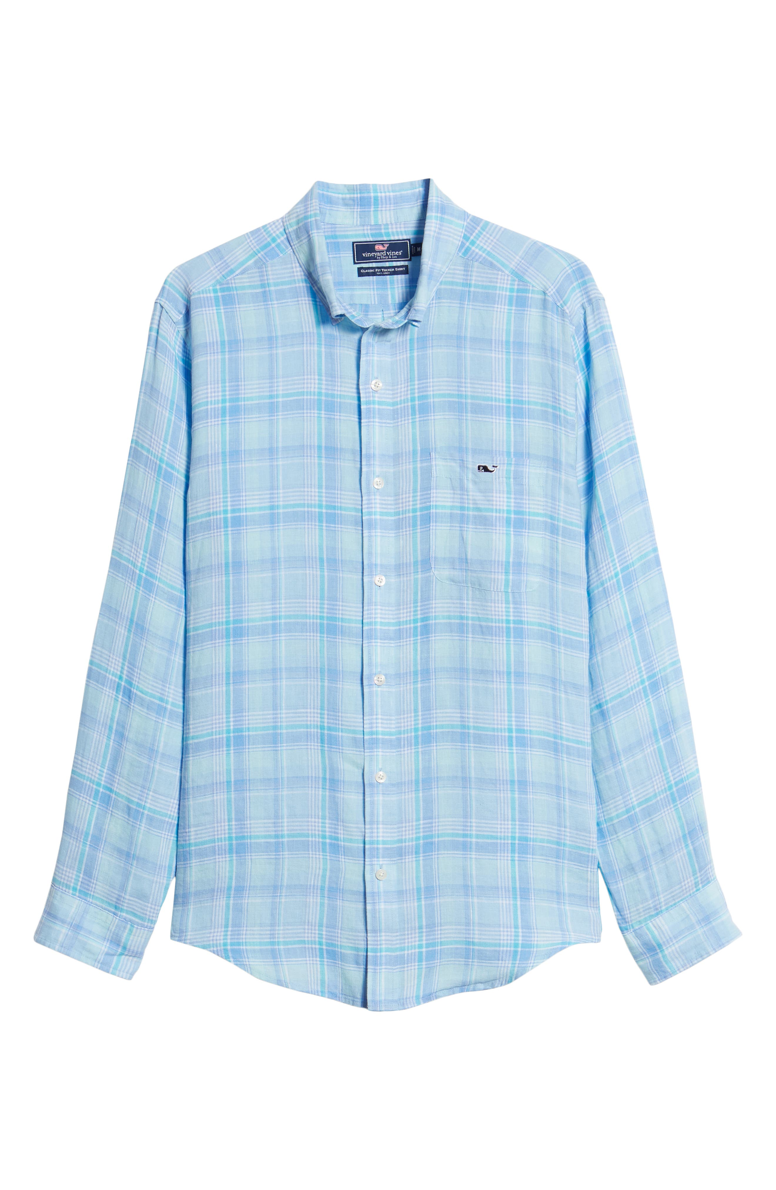 Moore's Island Classic Fit Plaid Sport Shirt,                             Alternate thumbnail 6, color,                             400