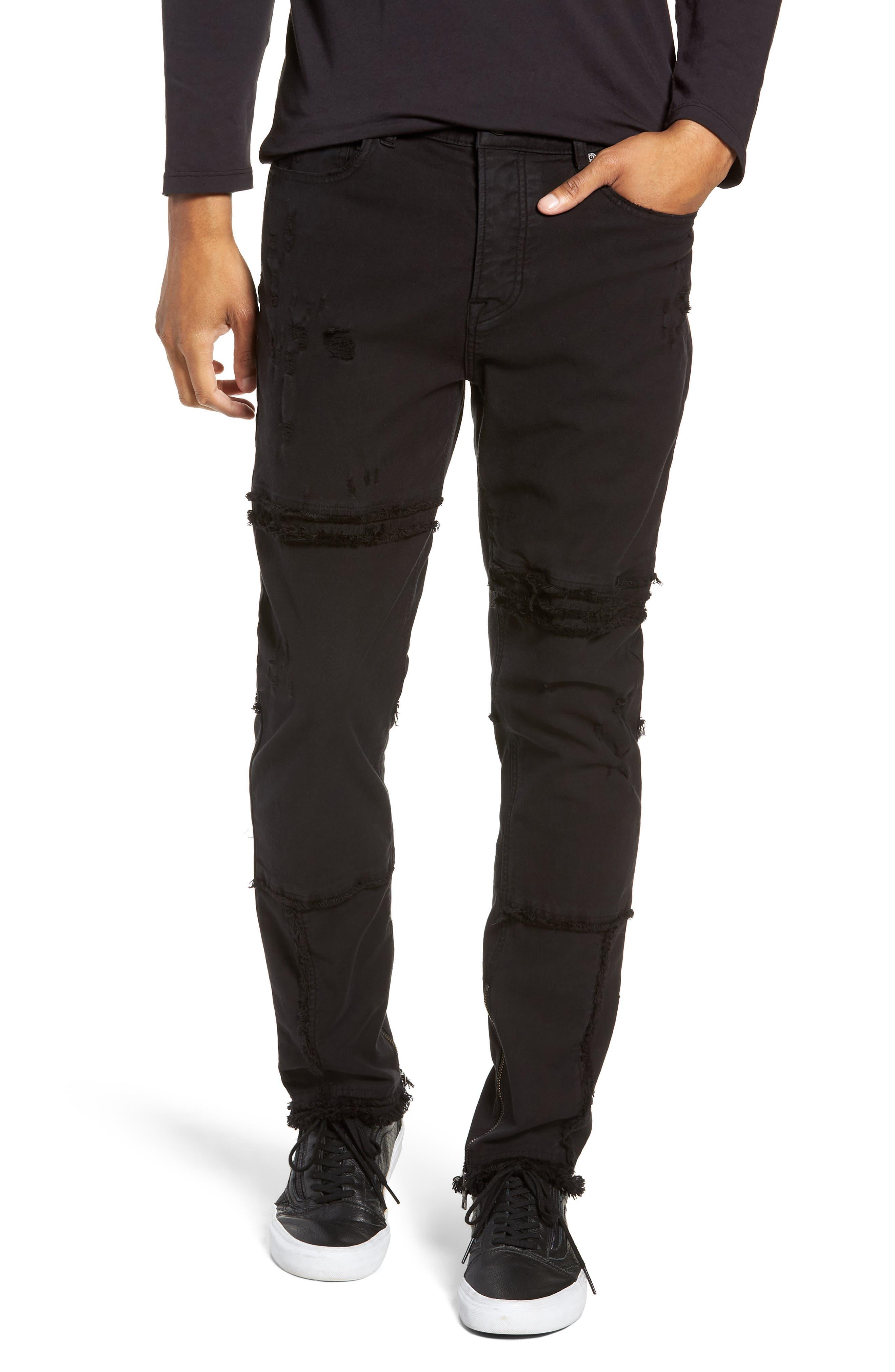 Vaughn Moto Skinny Fit Jeans,                             Main thumbnail 1, color,                             FARRELL