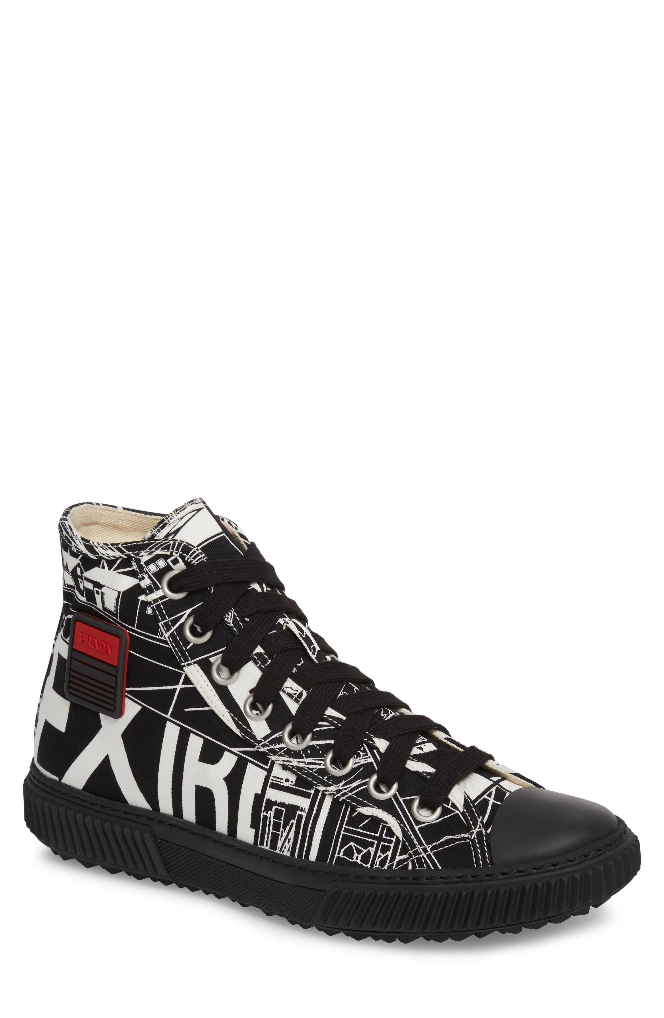 Comic Print High Top Sneaker,                         Main,                         color, 013
