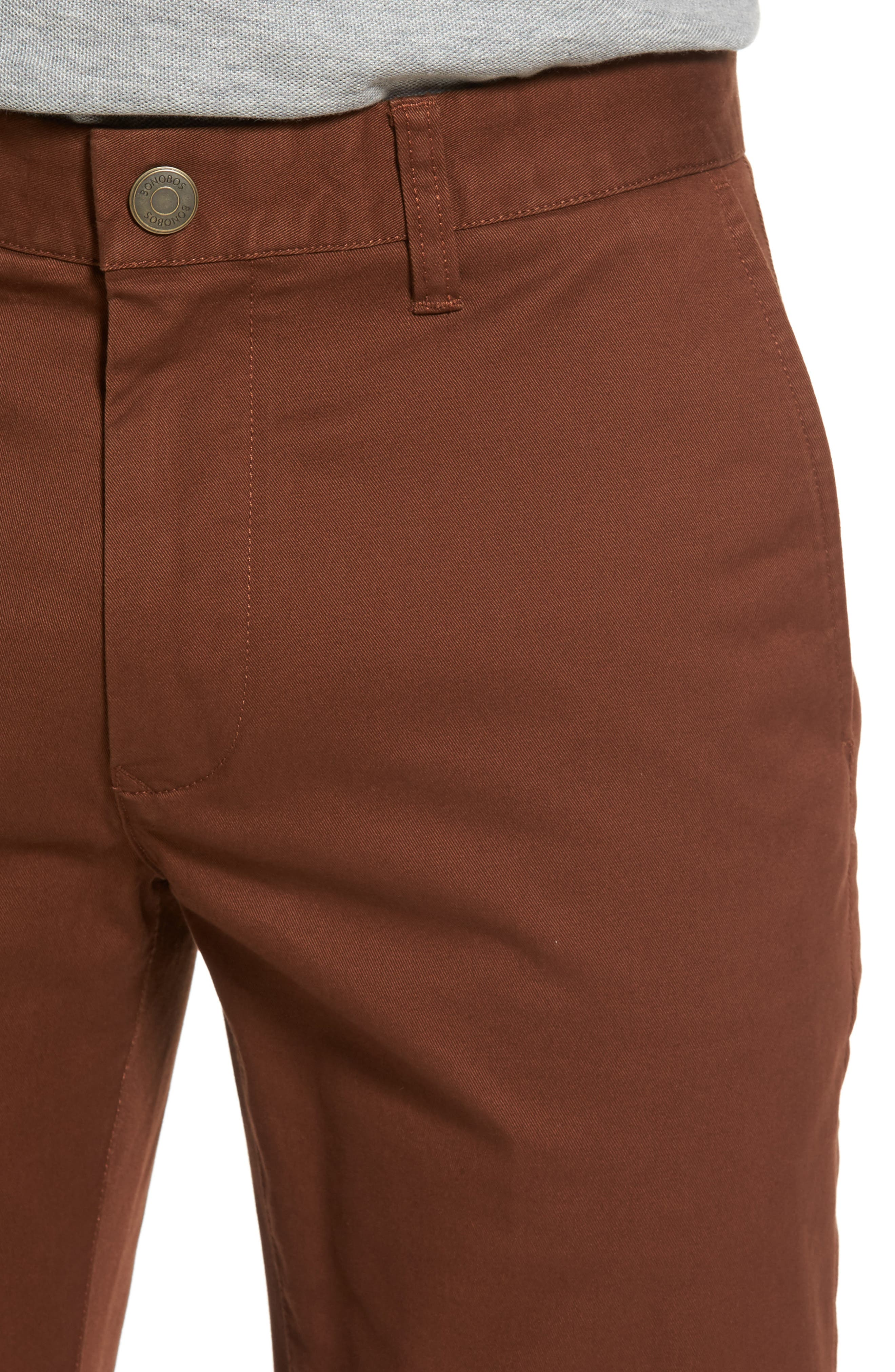Tailored Fit Washed Stretch Cotton Chinos,                             Alternate thumbnail 107, color,