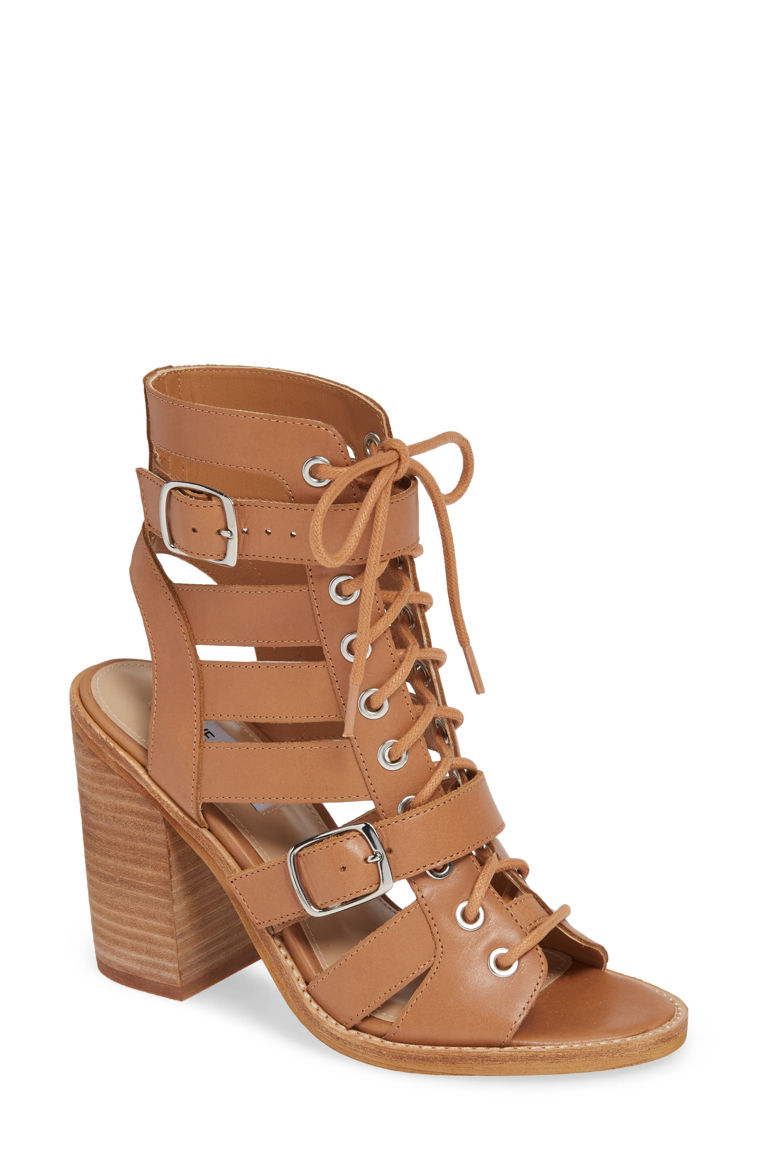 Cecilia Sandal in Natural Leather