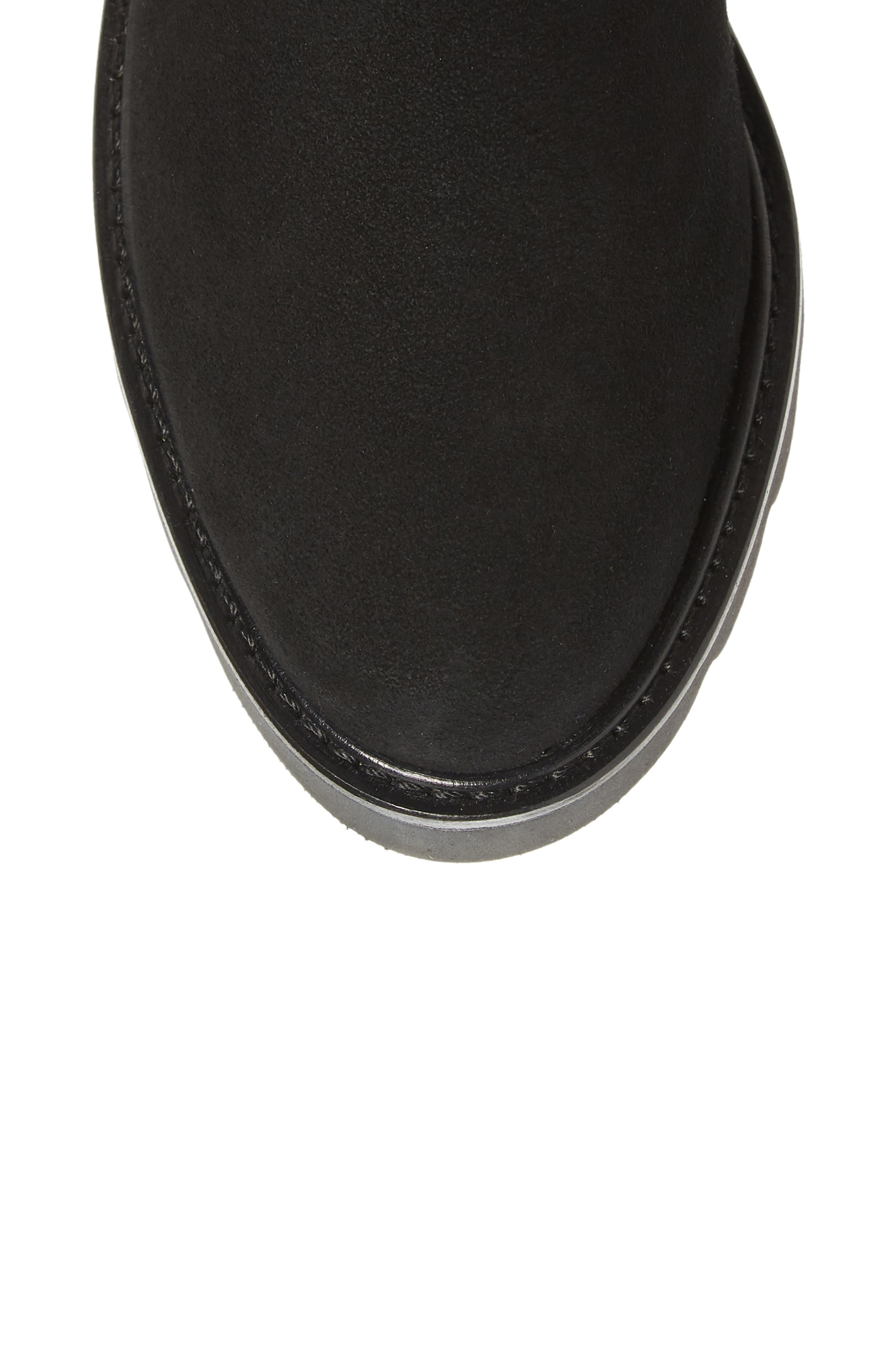 Eldridge Over the Knee Boot,                             Alternate thumbnail 5, color,                             BLACK SUEDE