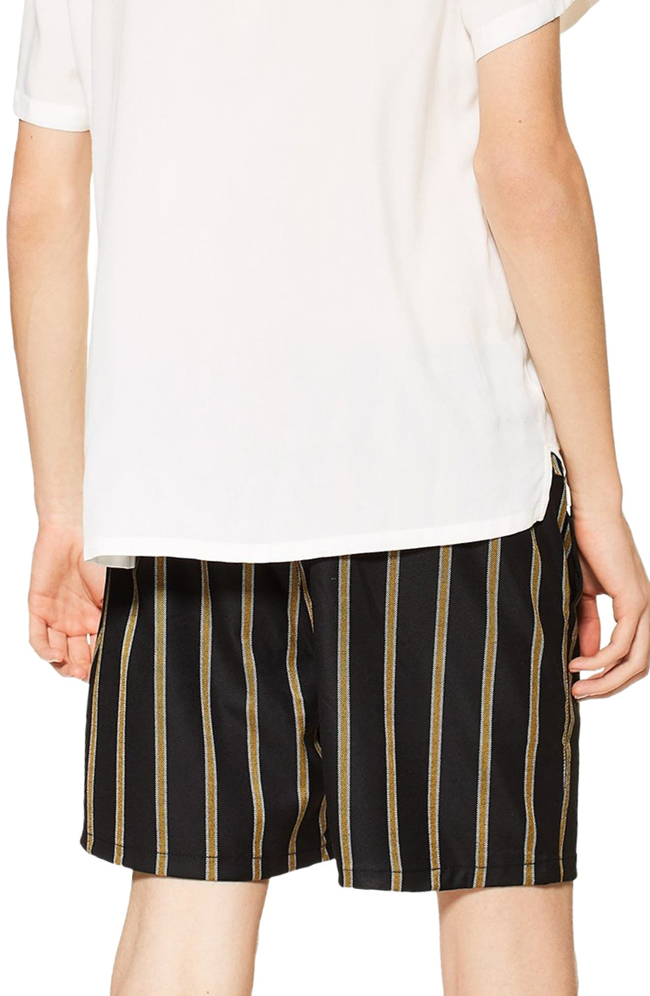 Striped Swim Shorts,                             Alternate thumbnail 2, color,                             BLACK MULTI