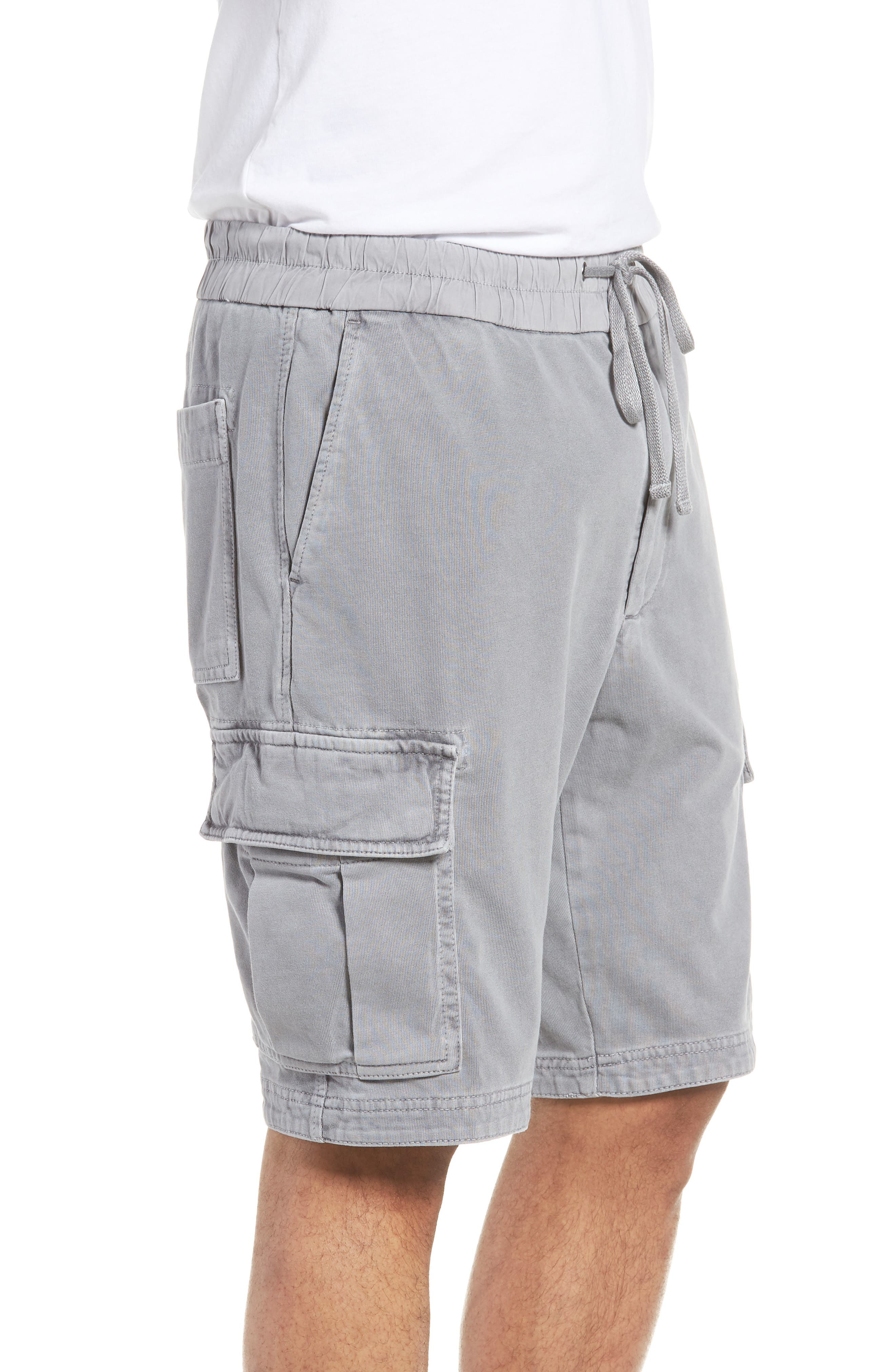 Heavy Jersey Cargo Shorts,                             Alternate thumbnail 3, color,                             BREEZE PIGMENT