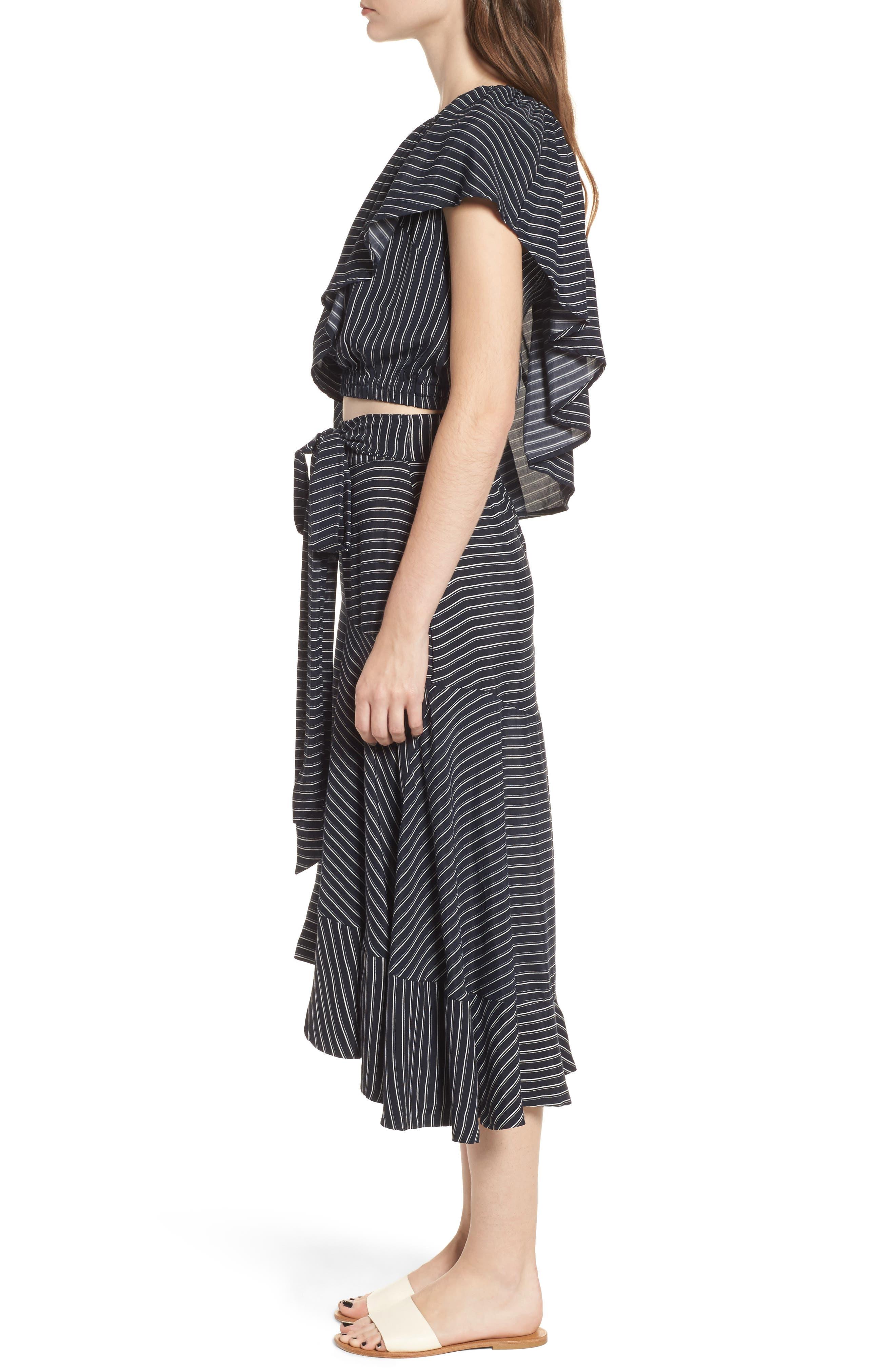 Kamares Ruffle Midi Skirt,                             Alternate thumbnail 9, color,                             001