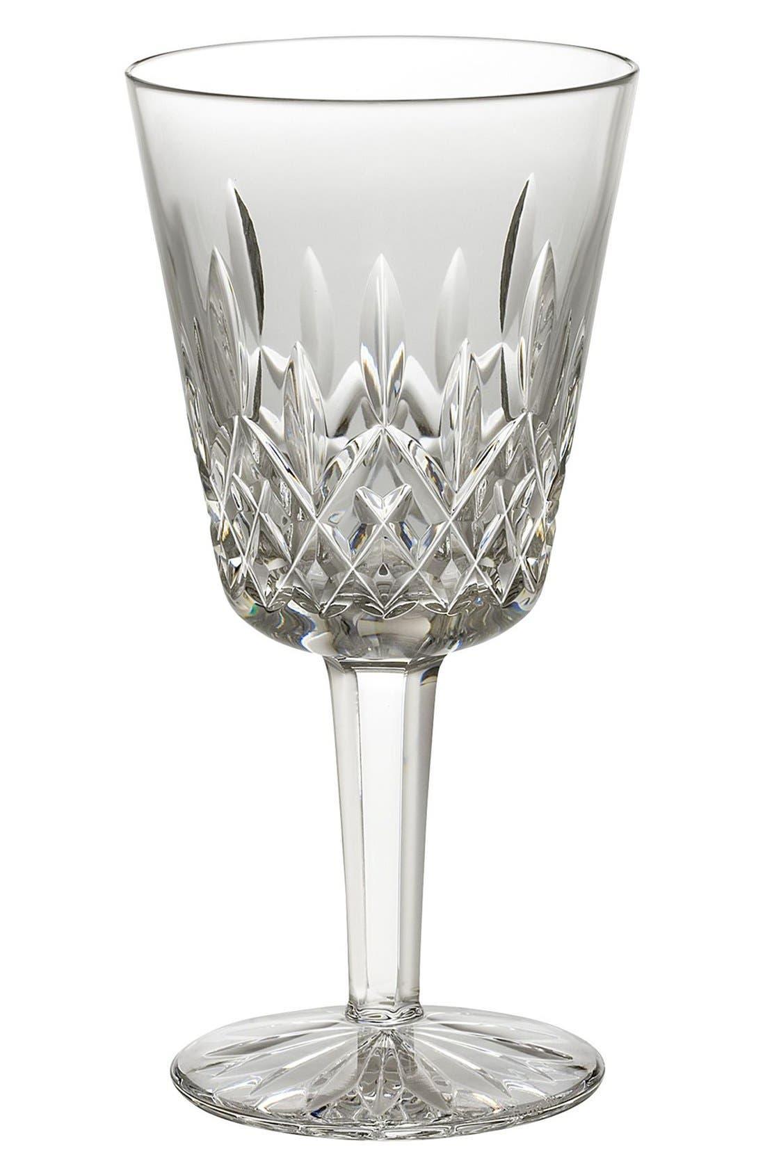 'Lismore' Lead Crystal Goblet,                             Main thumbnail 1, color,