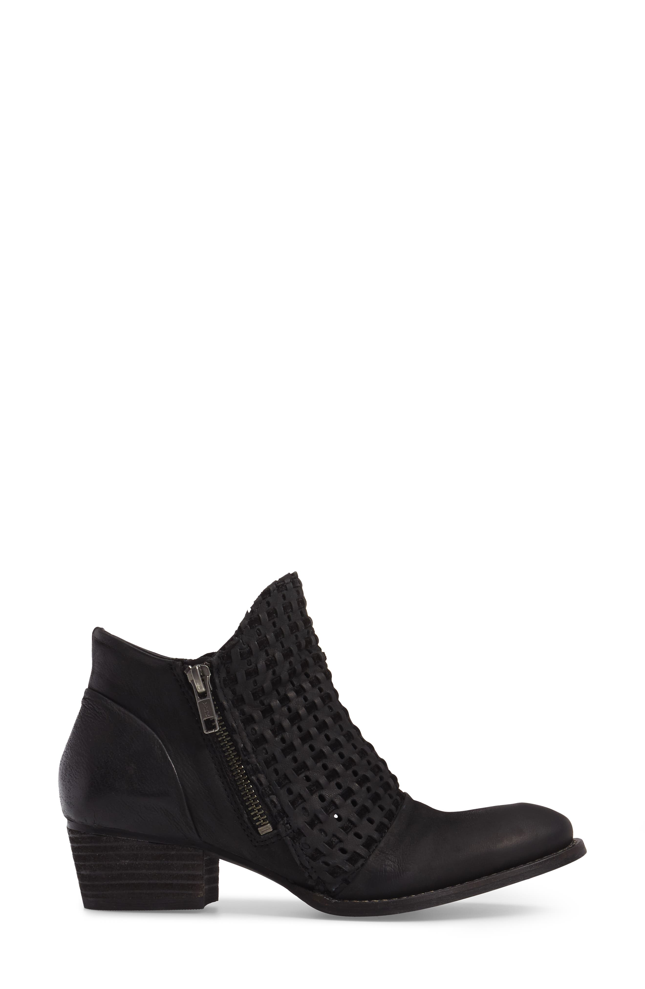 Ravi Perforated Woven Bootie,                             Alternate thumbnail 5, color,