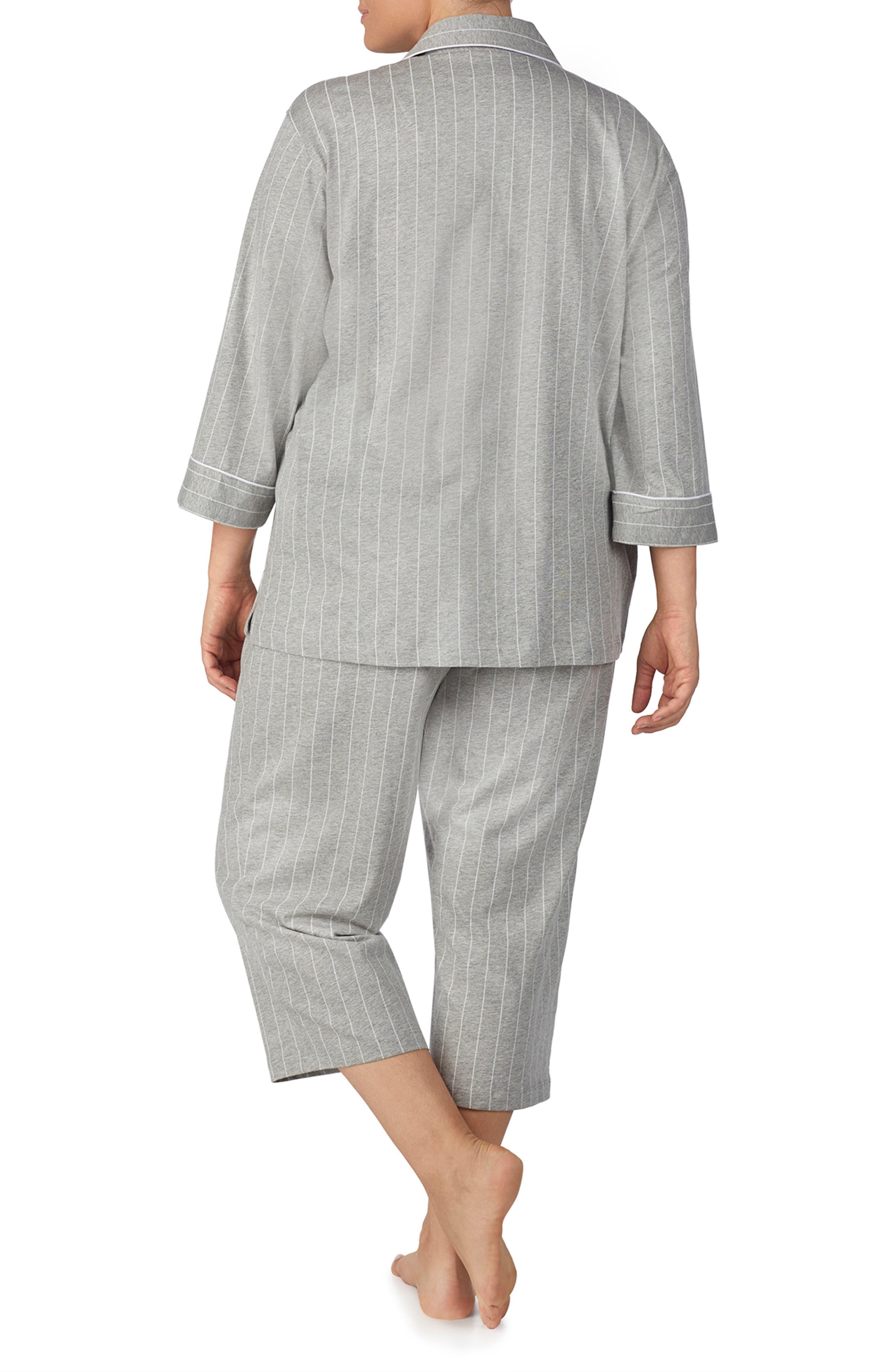 Knit Crop Pajamas,                             Alternate thumbnail 2, color,                             060