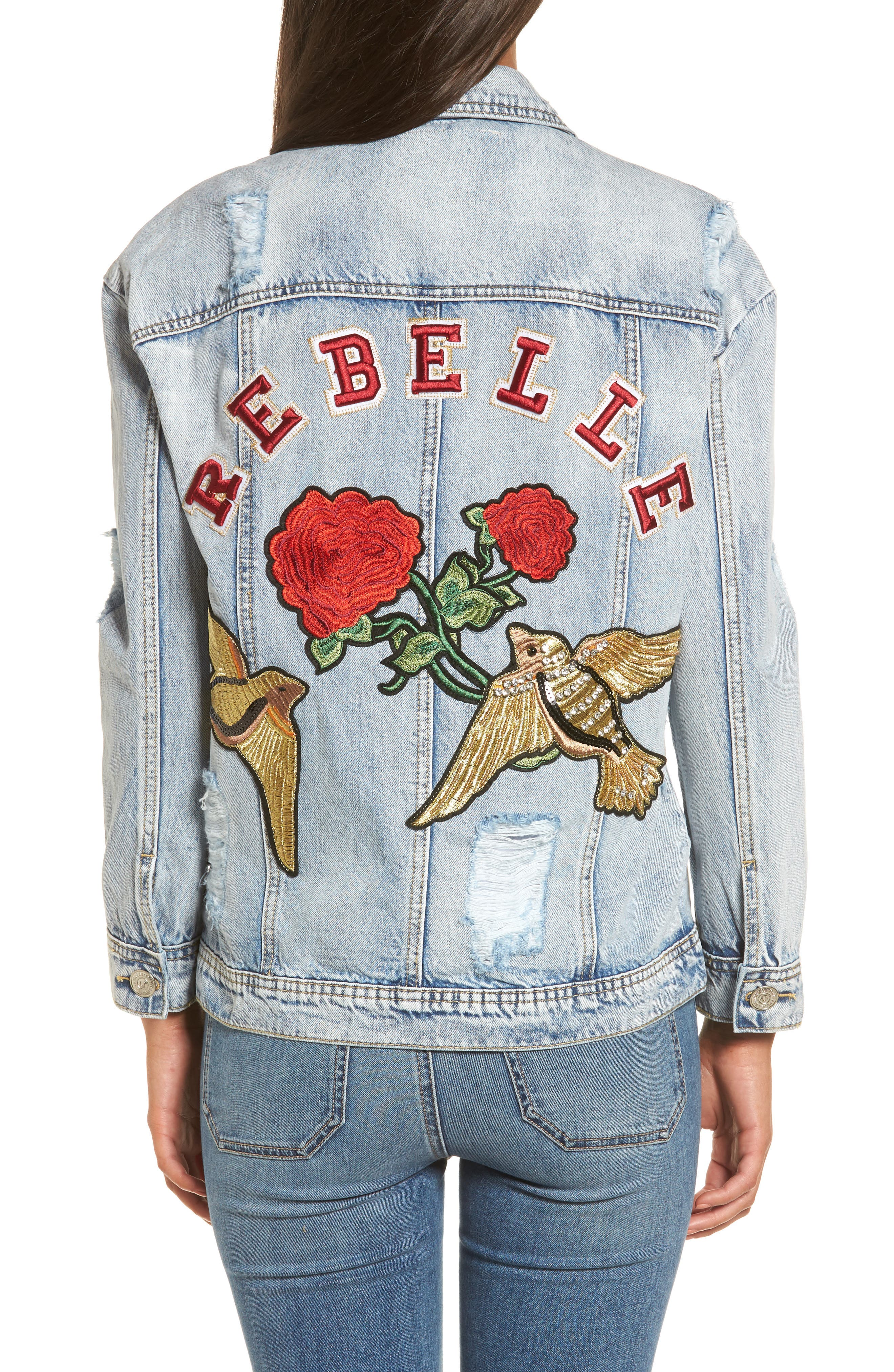 Denim Trucker Jacket,                             Alternate thumbnail 2, color,                             403