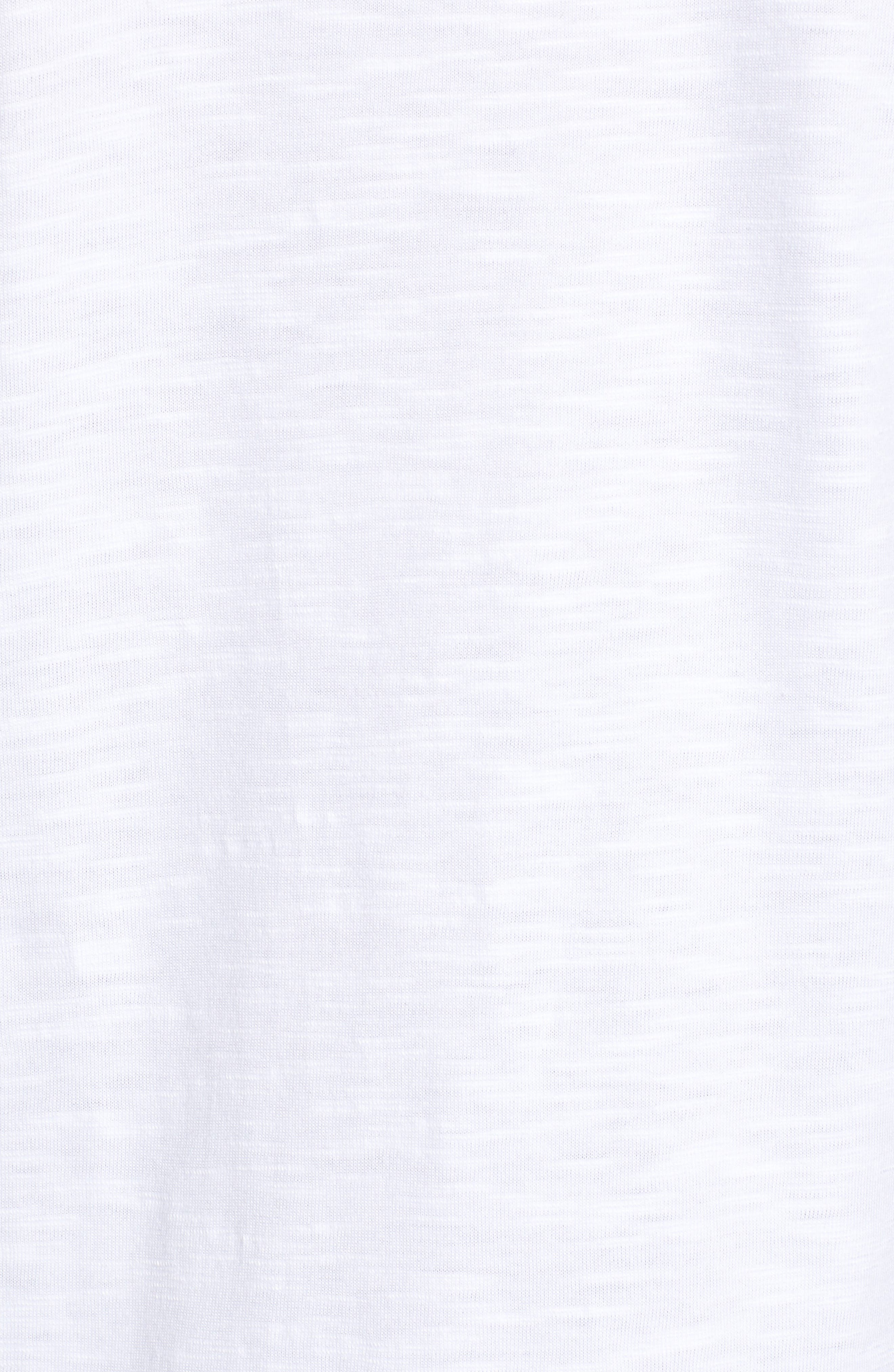 CASLON<SUP>®</SUP>,                             Tiered Short Sleeve Tee,                             Alternate thumbnail 5, color,                             WHITE