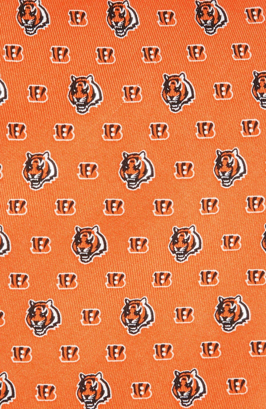 Cincinnati Bengals - NFL Woven Silk Tie,                             Alternate thumbnail 2, color,                             ORANGE