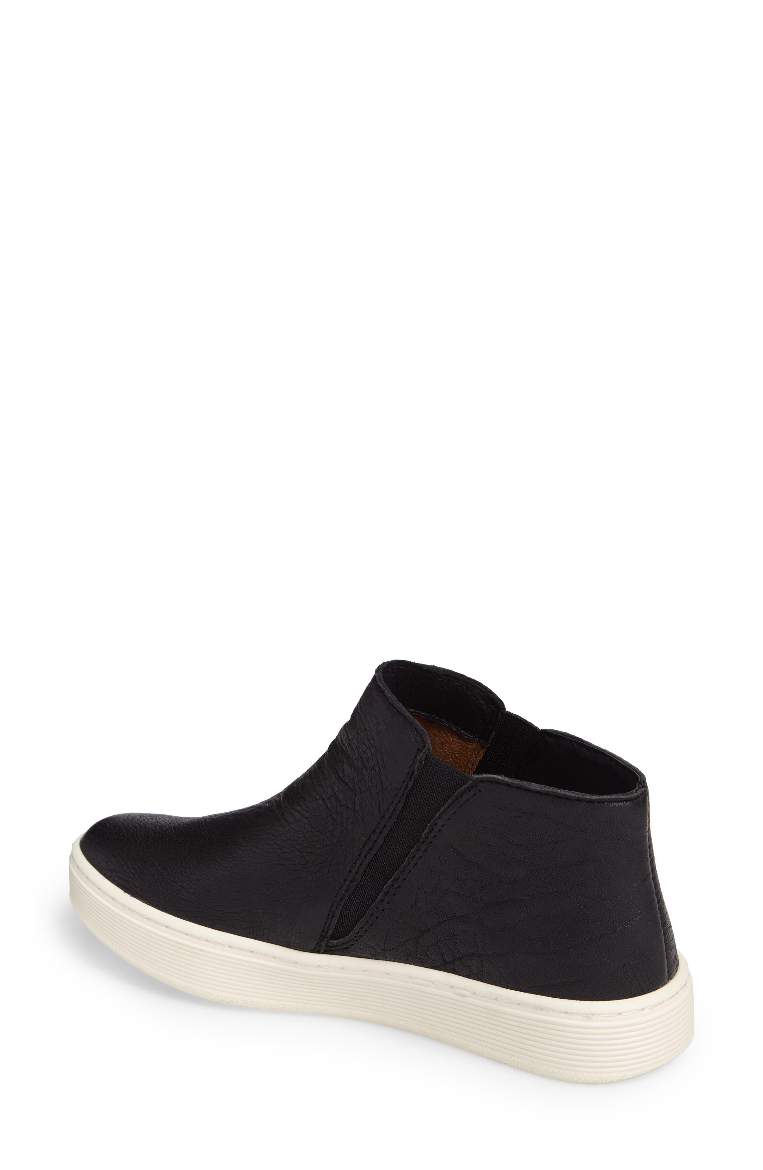 Britton Chelsea Sneaker,                             Alternate thumbnail 2, color,                             BLACK LEATHER