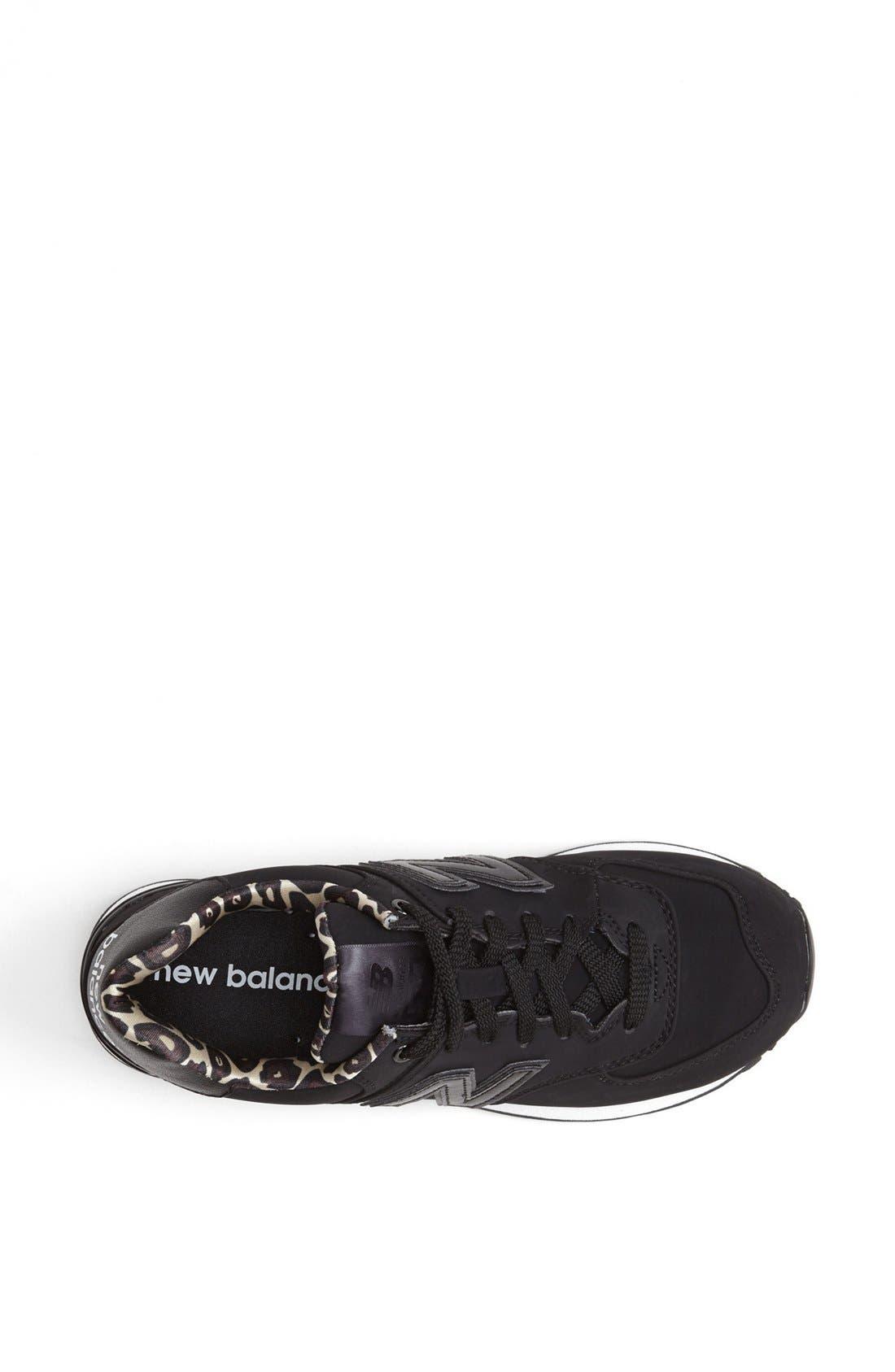 NEW BALANCE,                             '574' Sneaker,                             Alternate thumbnail 4, color,                             001