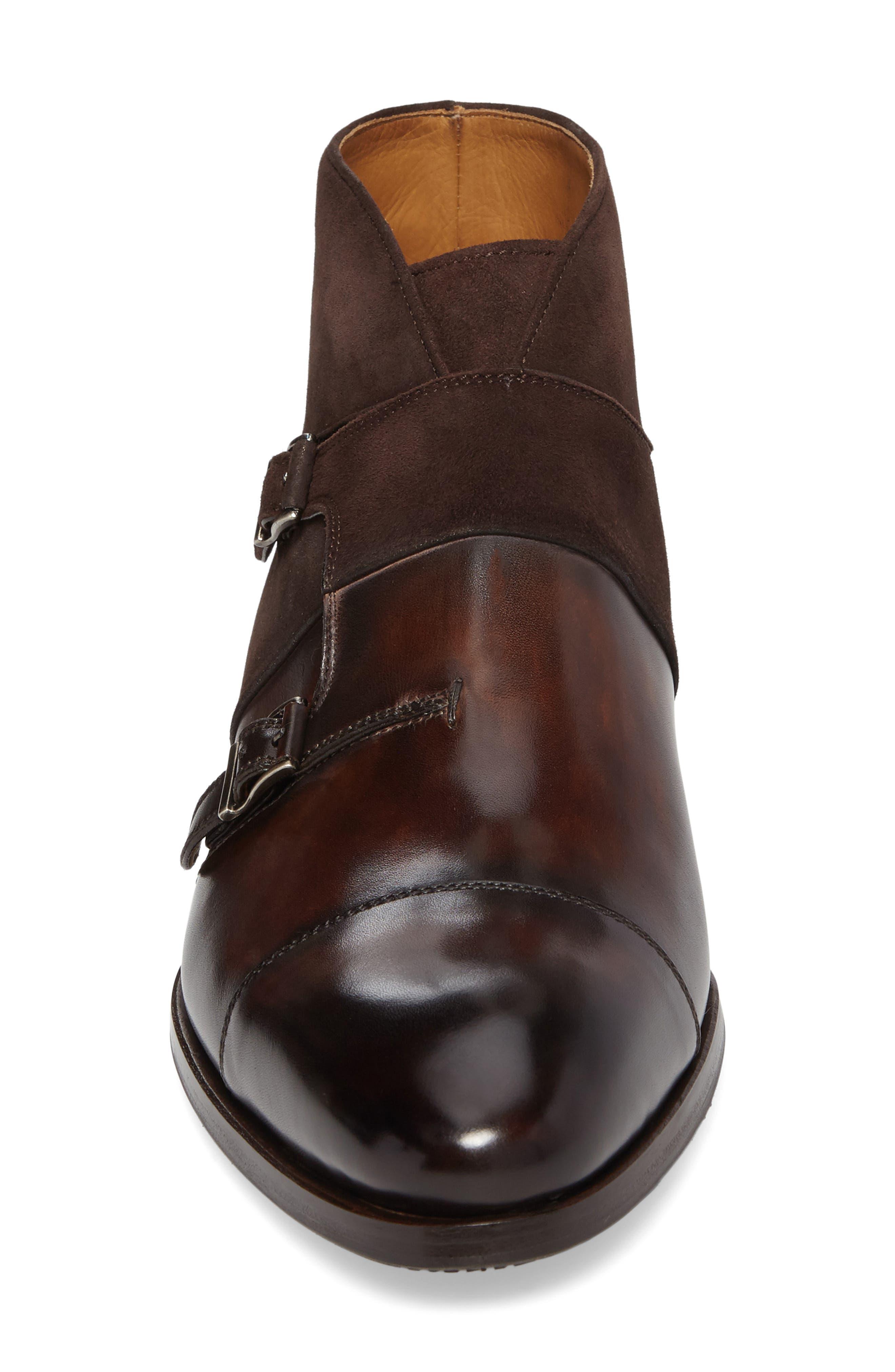 Octavian Double Monk Strap Boot,                             Alternate thumbnail 4, color,                             200
