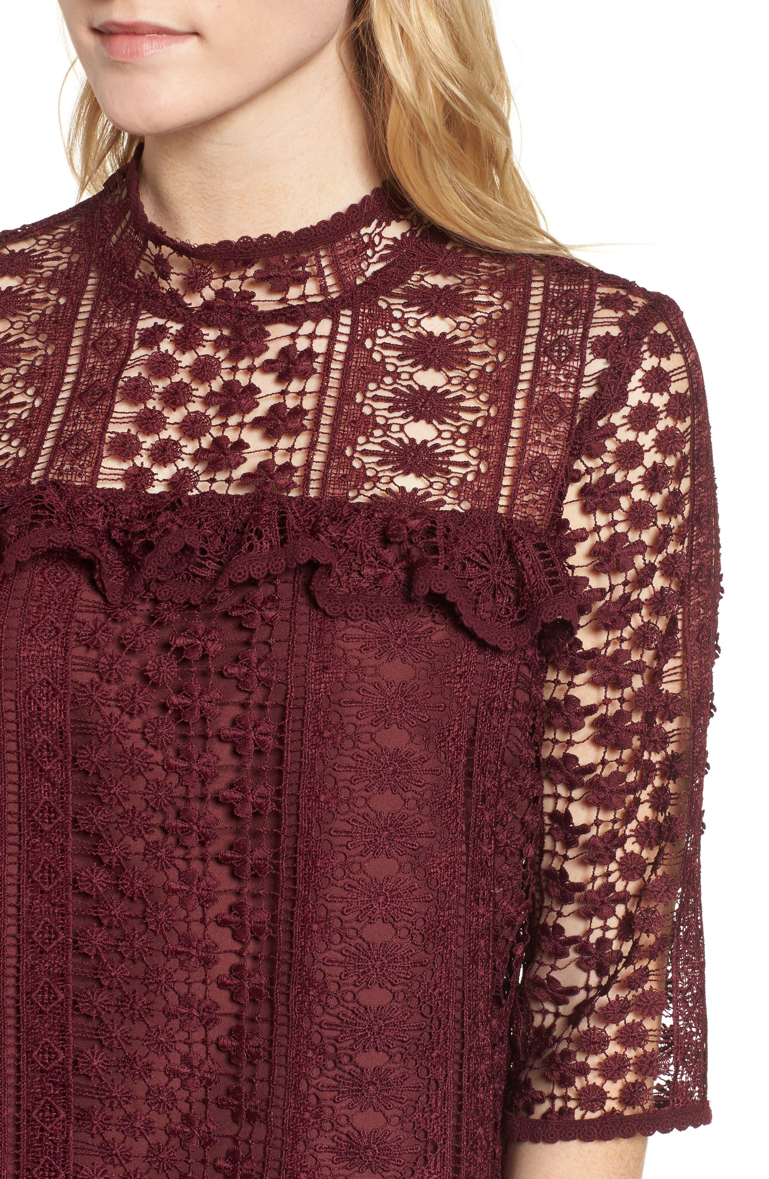 Kebecka Lace Top,                             Alternate thumbnail 4, color,                             901