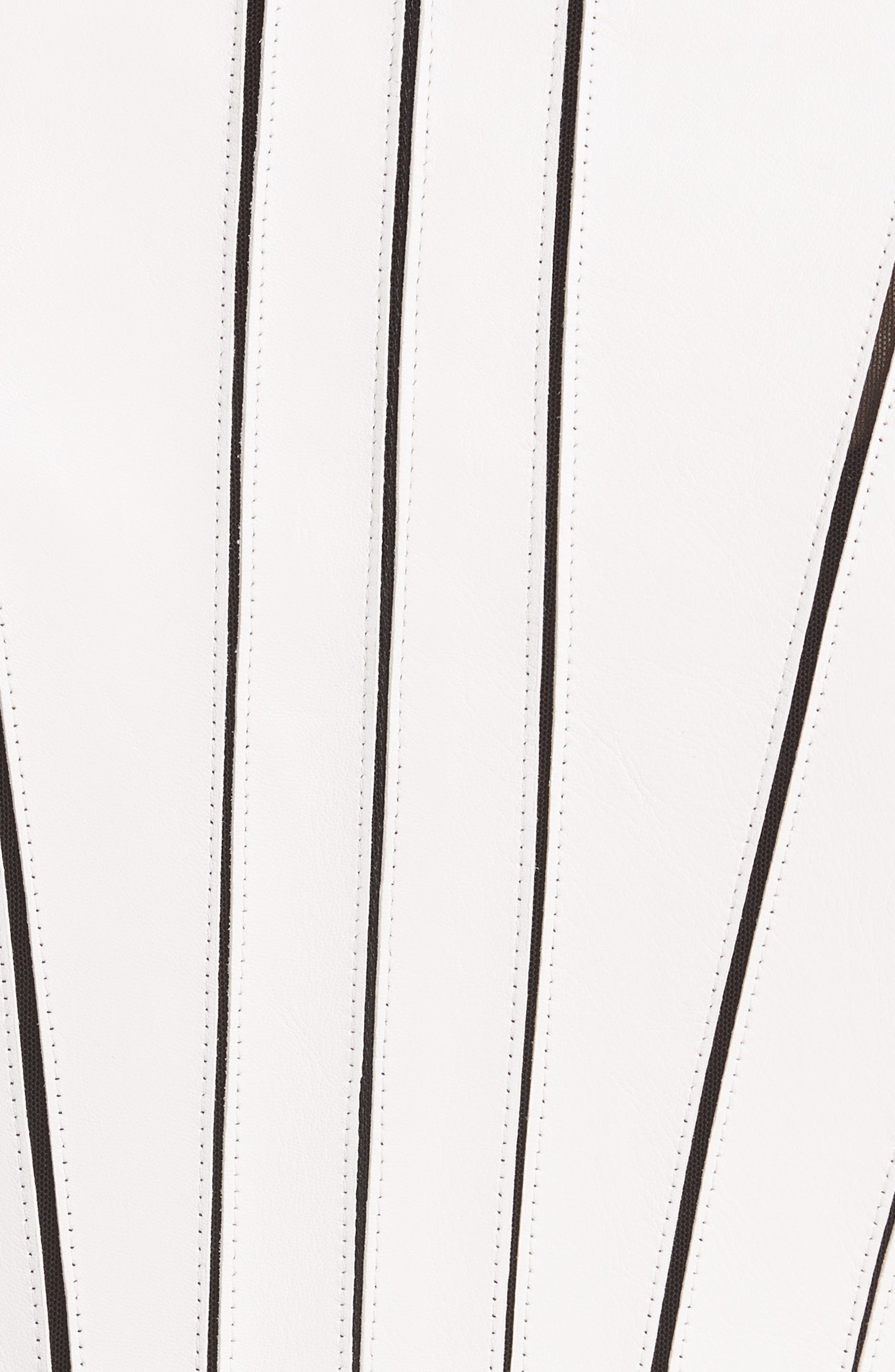 Leather Panel Jacket,                             Alternate thumbnail 6, color,                             WHITE