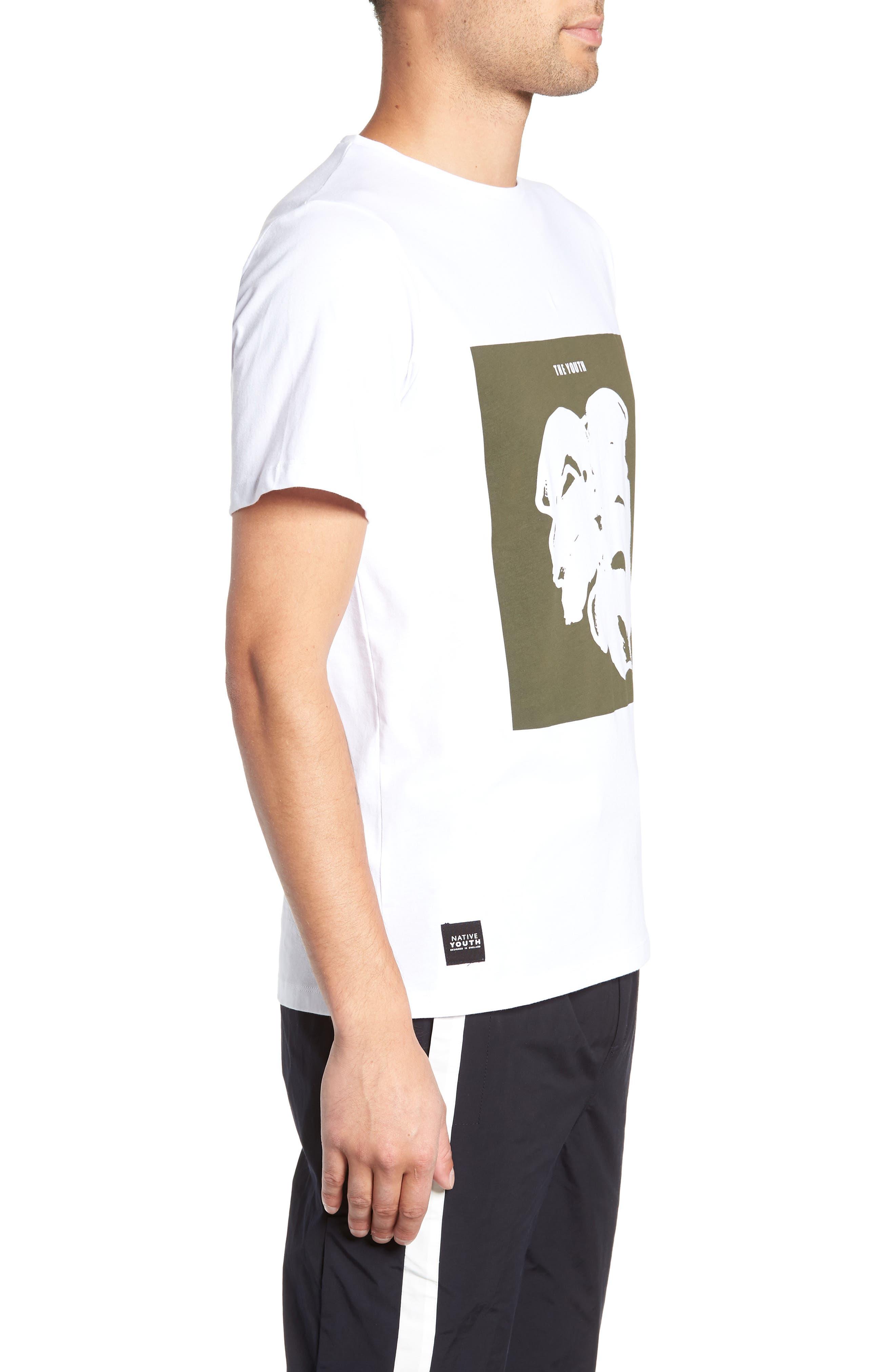 Placement Print T-Shirt,                             Alternate thumbnail 3, color,                             WHITE