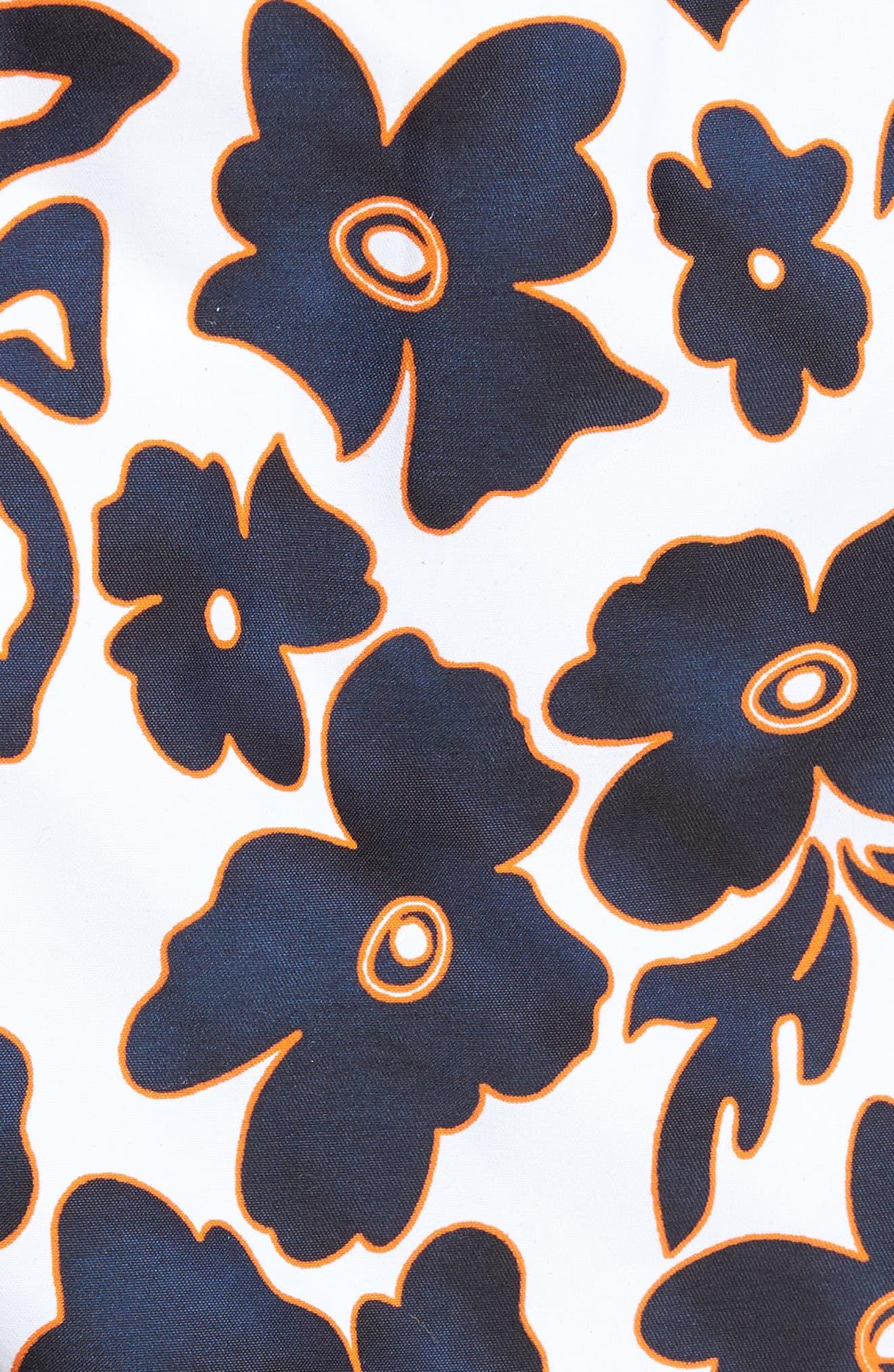Natural Flowers Swim Trunks,                             Alternate thumbnail 5, color,                             WHITE