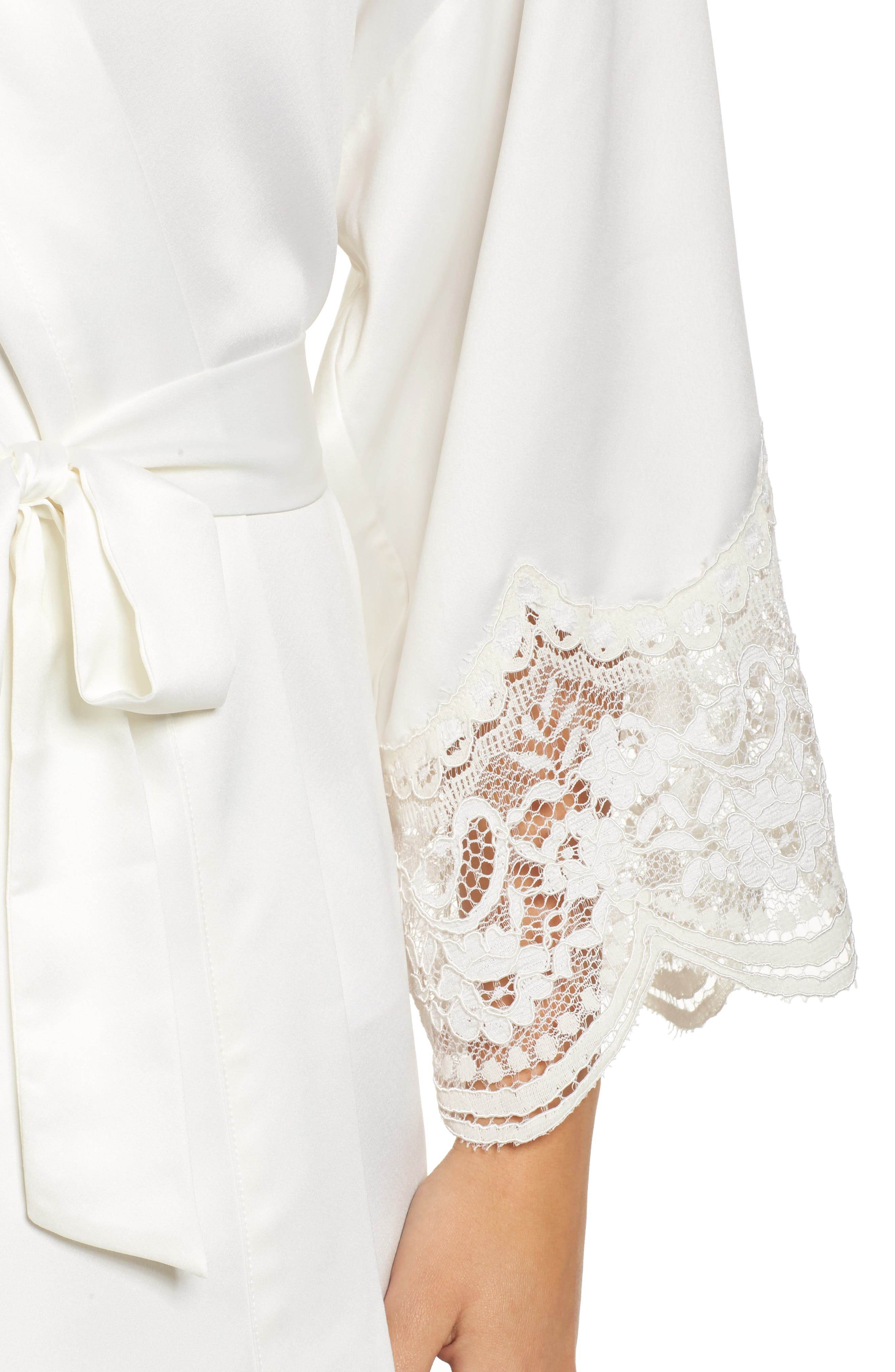 Monica Satin Kimono Robe,                             Alternate thumbnail 4, color,                             900