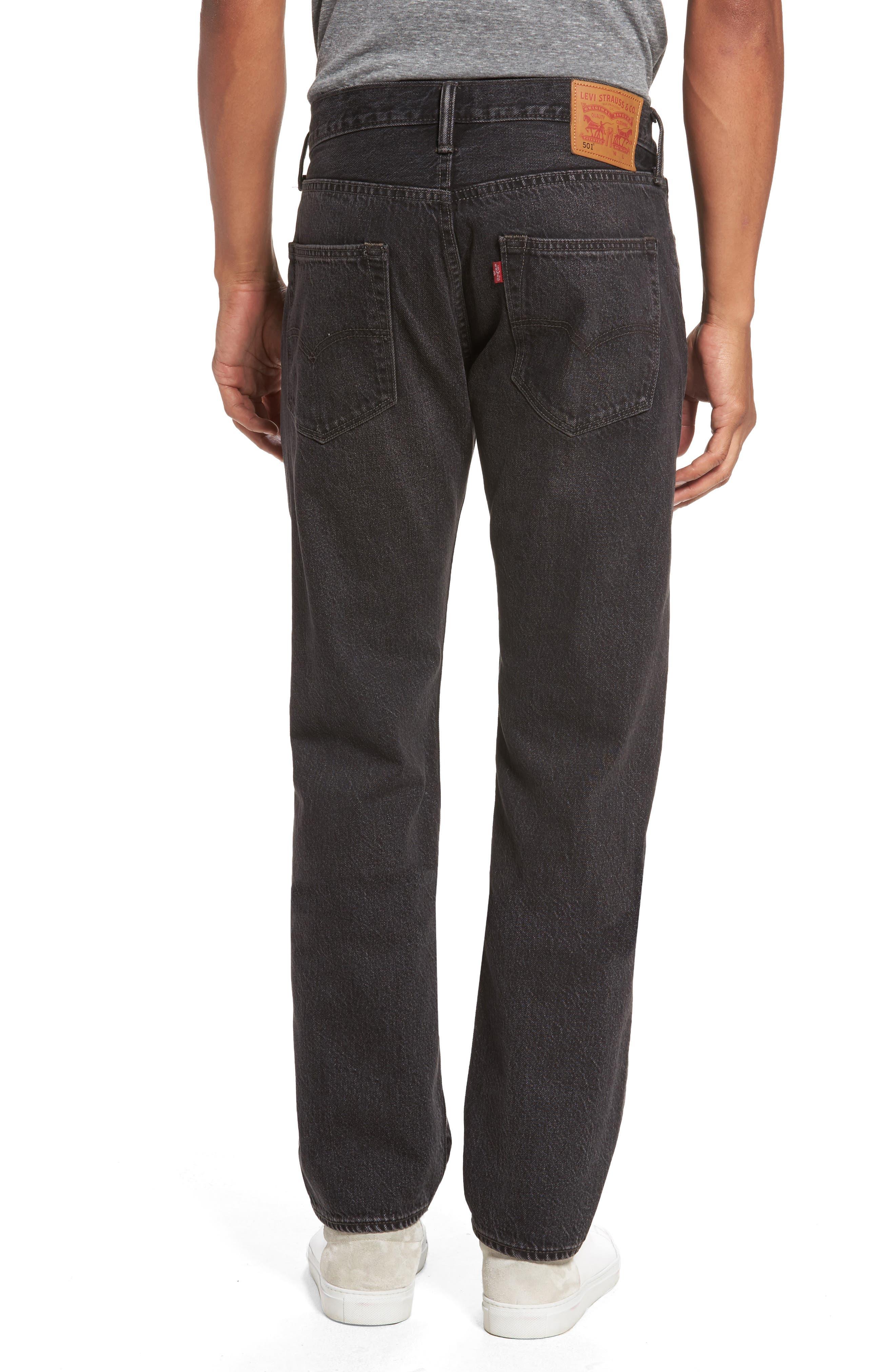 501<sup>™</sup> Straight Leg Jeans,                             Alternate thumbnail 2, color,                             001
