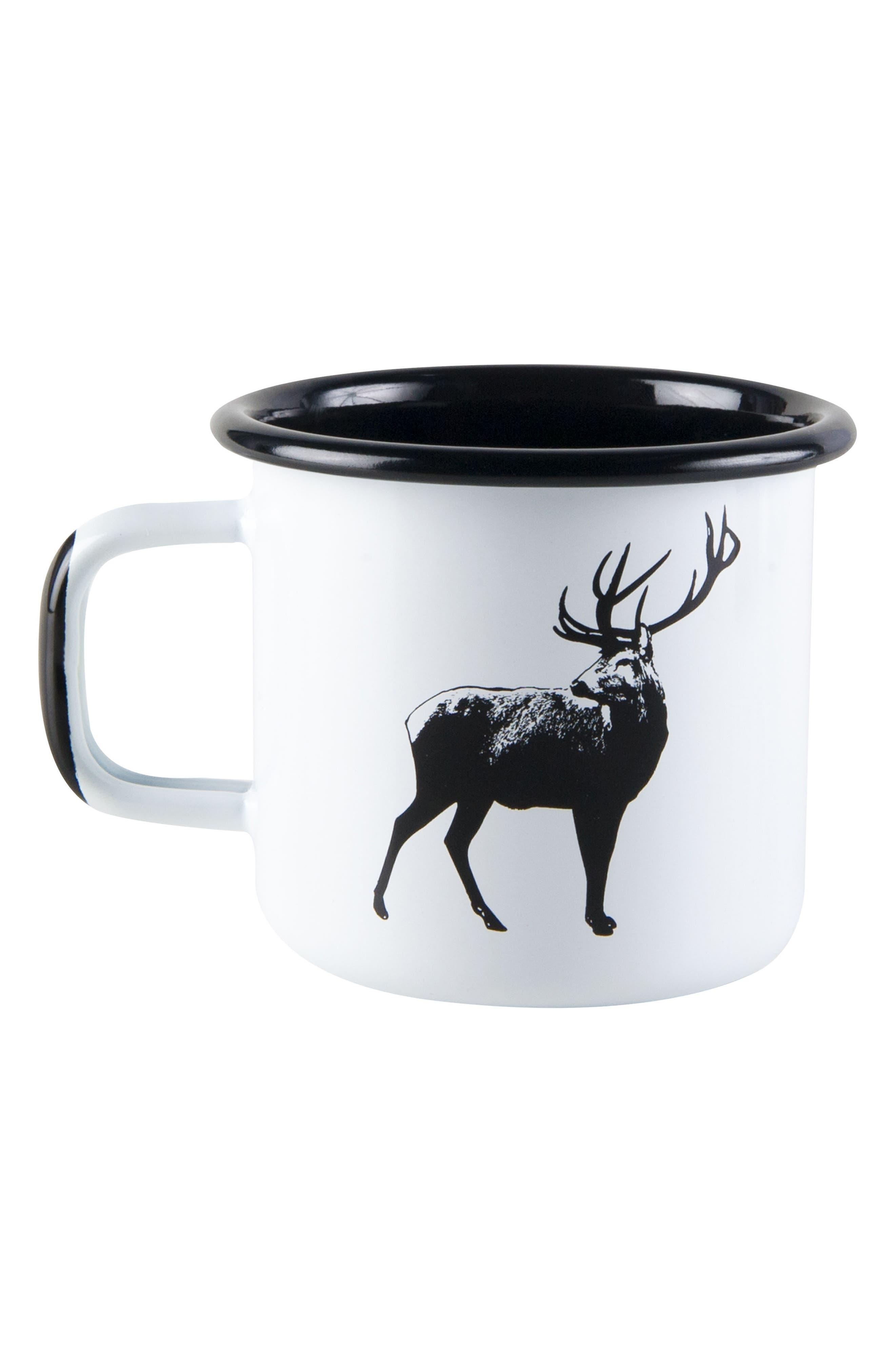 Deer Enamel Mug,                             Main thumbnail 1, color,