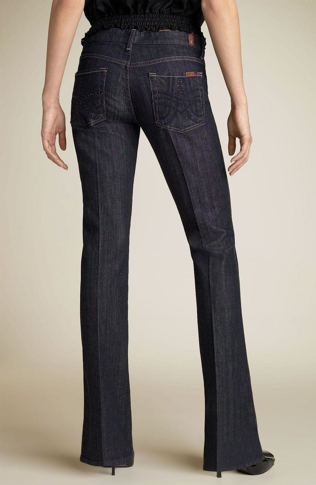 7 FOR ALL MANKIND<SUP>®</SUP>,                             'Swirl A-Pocket' Stretch Jeans,                             Main thumbnail 1, color,                             NYD