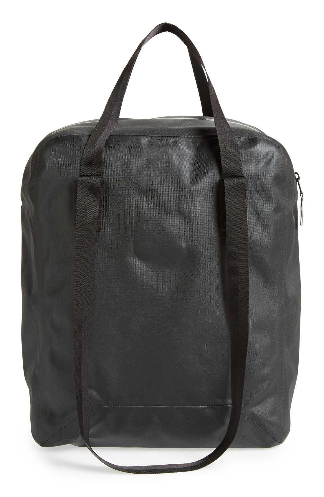 'Seque' Water Resistant Nylon Tote,                             Alternate thumbnail 4, color,                             001