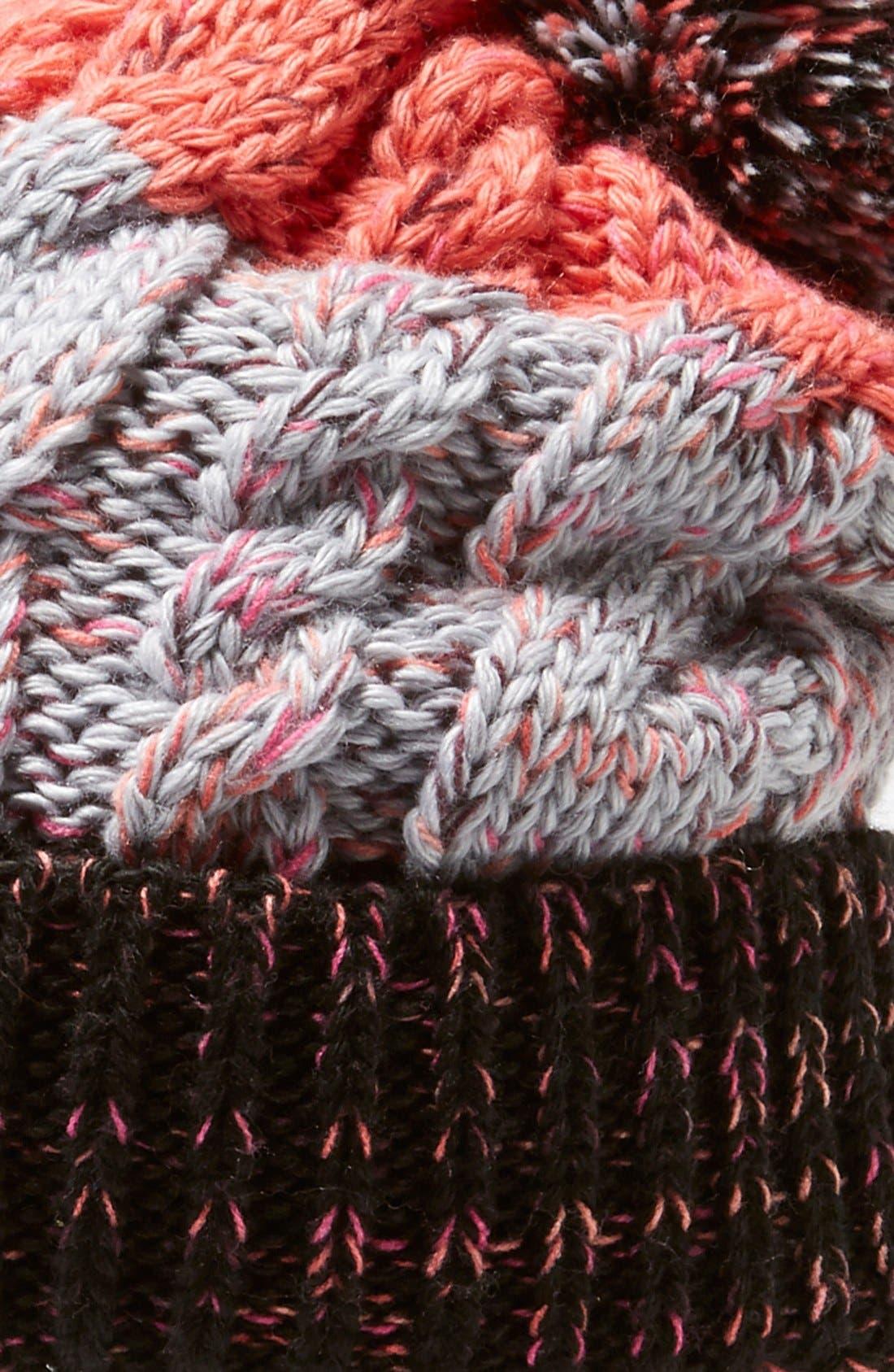 'Isto Retro' Merino Wool Blend Beanie,                             Alternate thumbnail 2, color,                             001